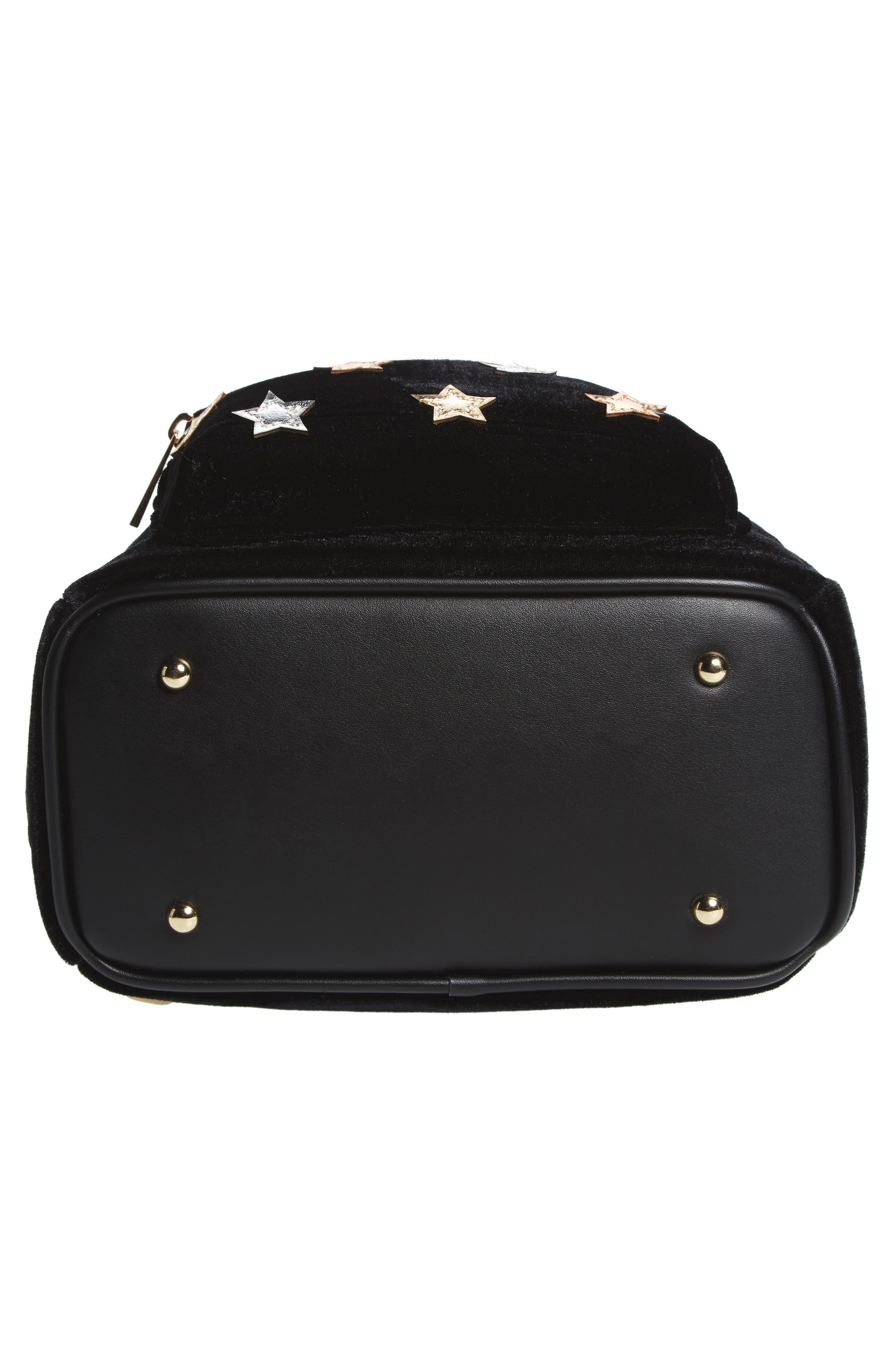 Star Mini Backpack,                             Alternate thumbnail 6, color,                             Black