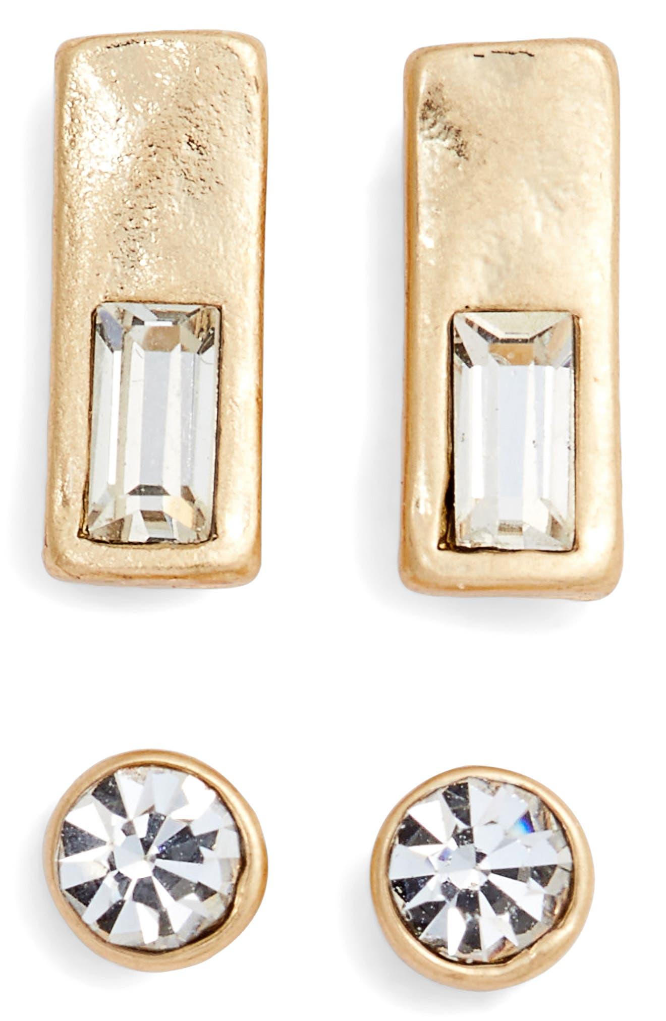 Treasure & Bond Set of 2 Crystal Studs
