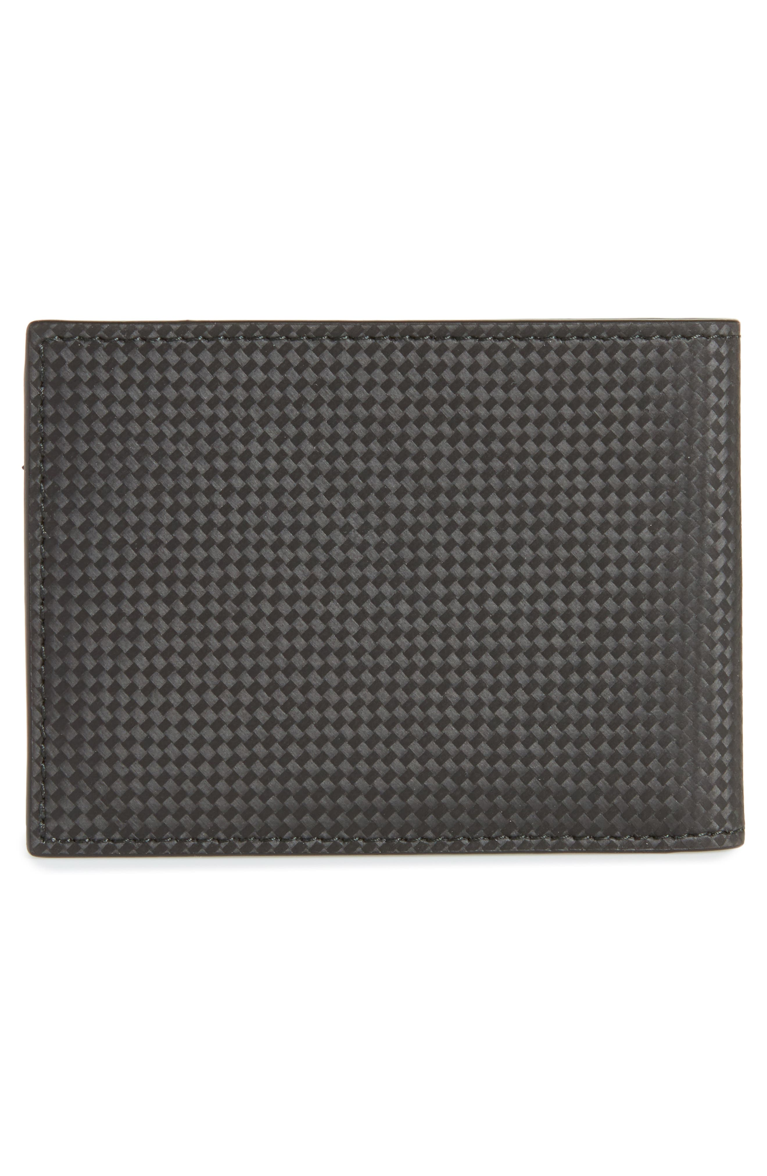 Extreme Leather Wallet,                             Alternate thumbnail 3, color,                             Black