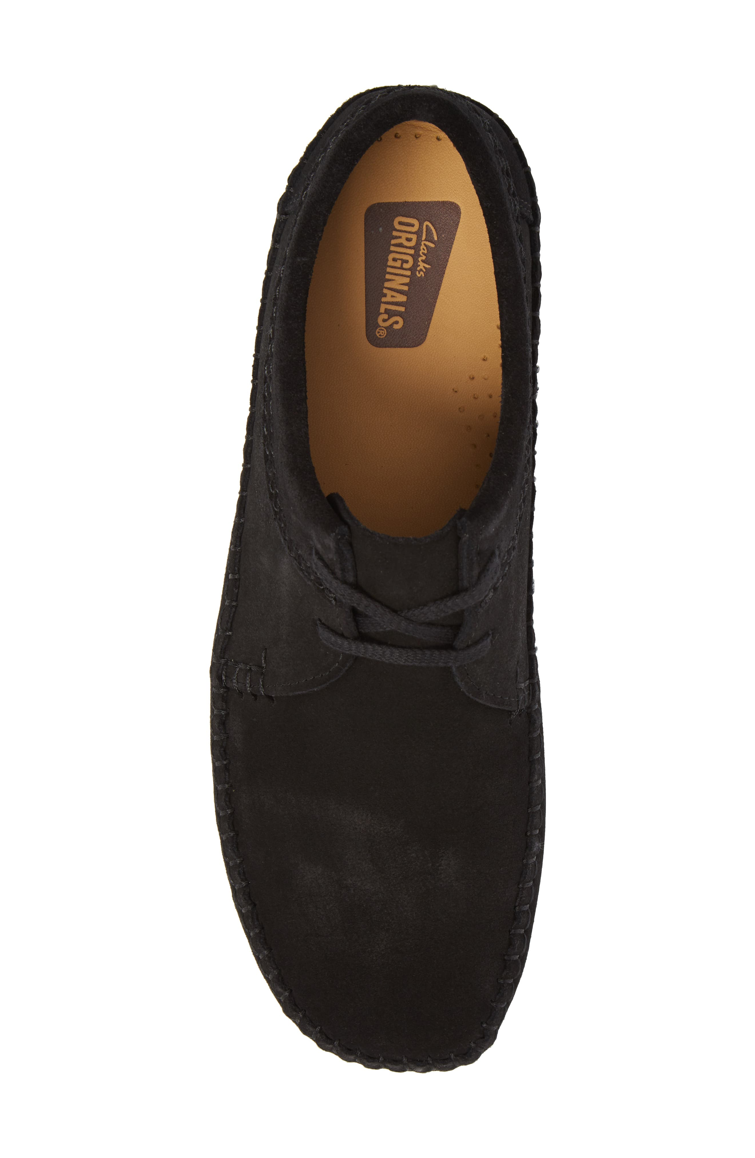 Weaver Moc Toe Derby,                             Alternate thumbnail 5, color,                             Black Suede