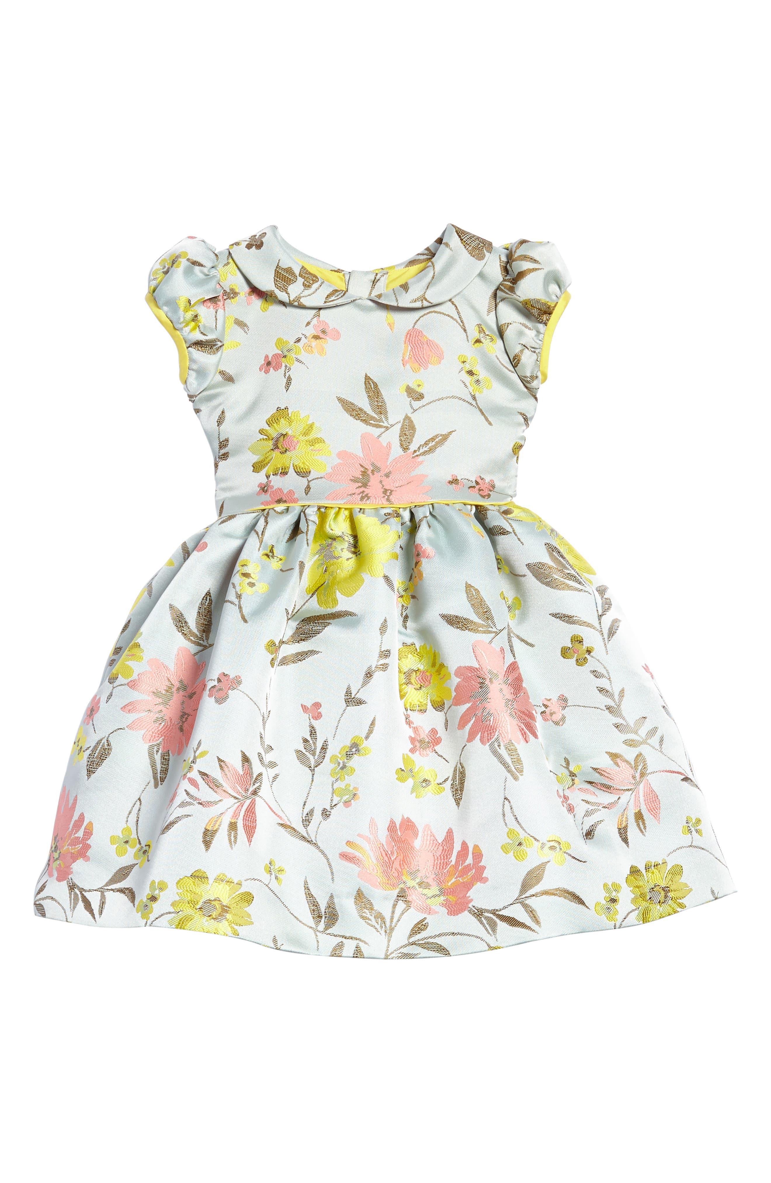 Oscar de la Renta Floral Jacquard Dress (Toddler Girls & Little Girls)