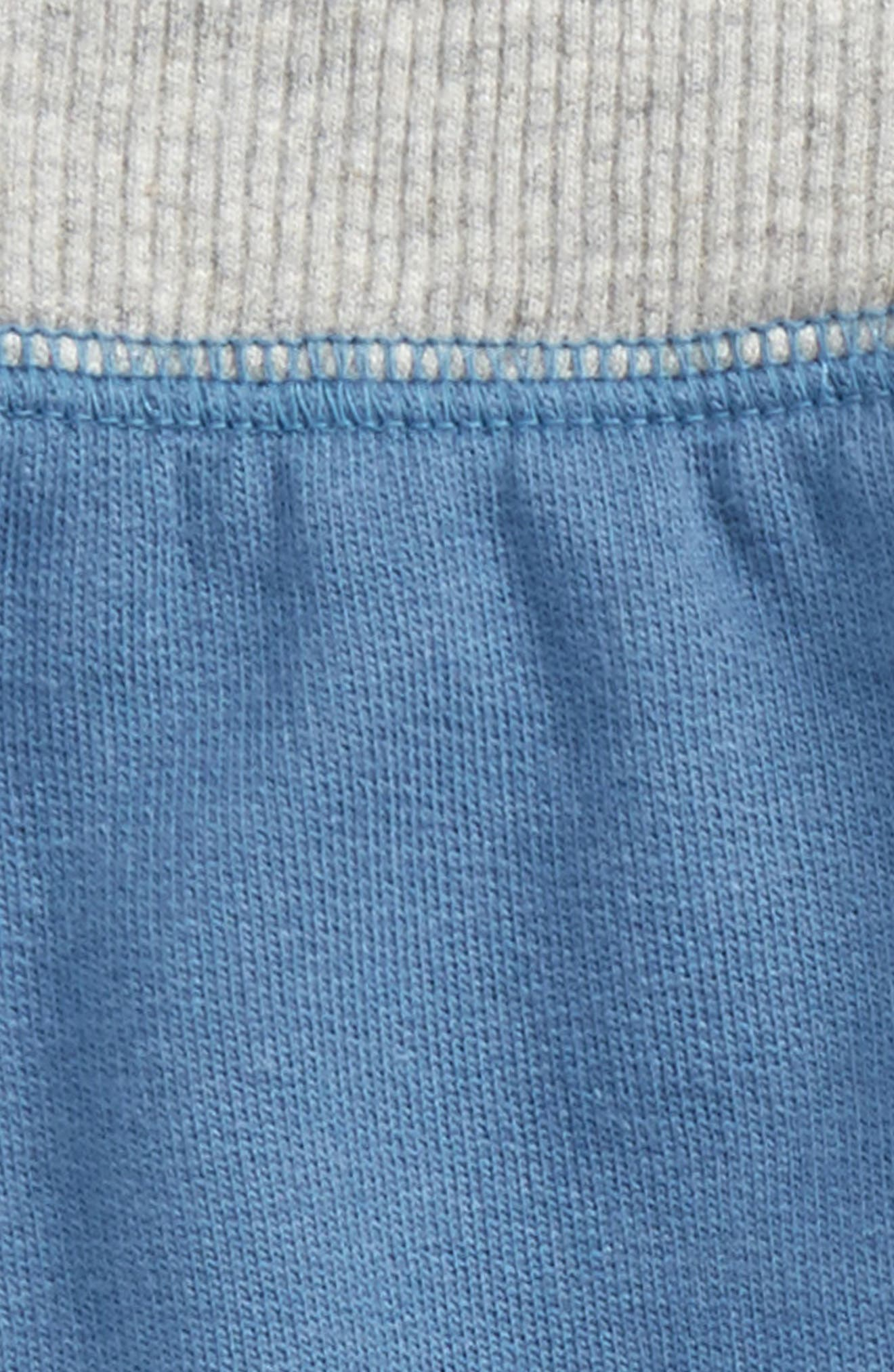 Organic Cotton French Terry Pants,                             Alternate thumbnail 3, color,                             Blue Star