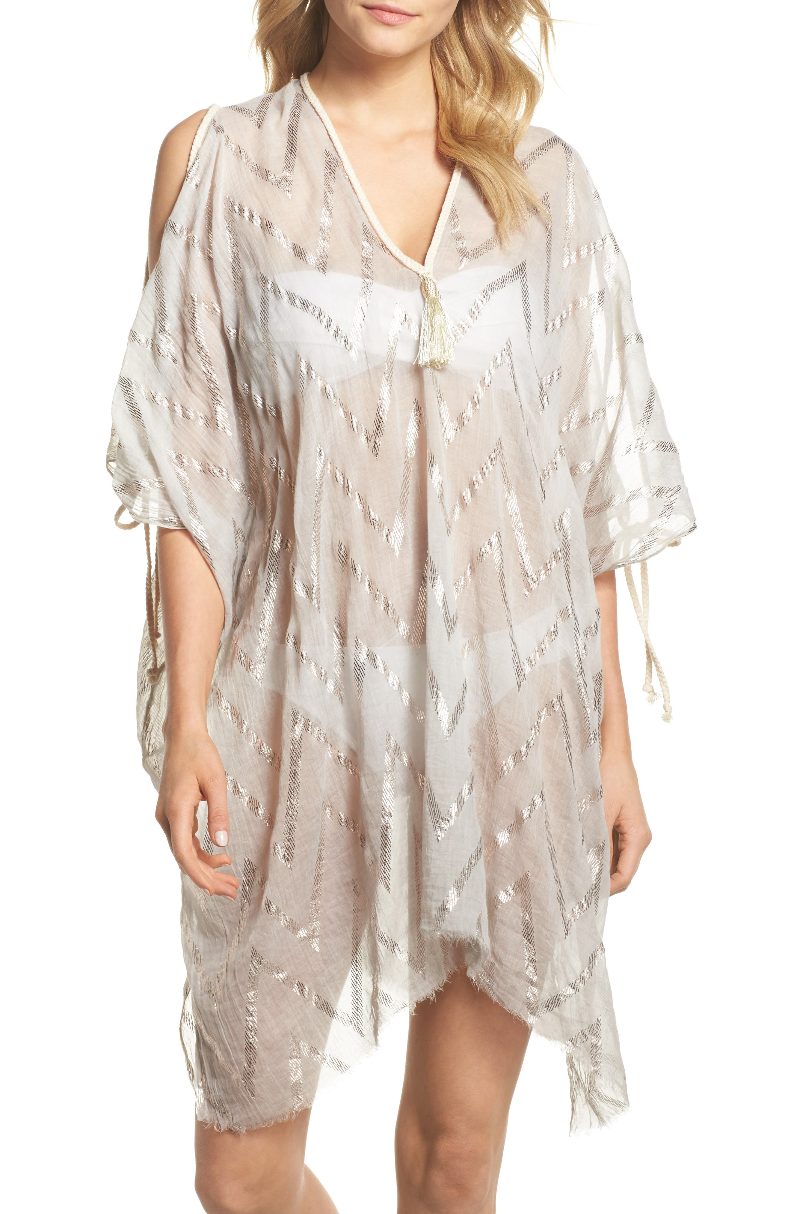 Caftan Cover-Up,                         Main,                         color, Taupe