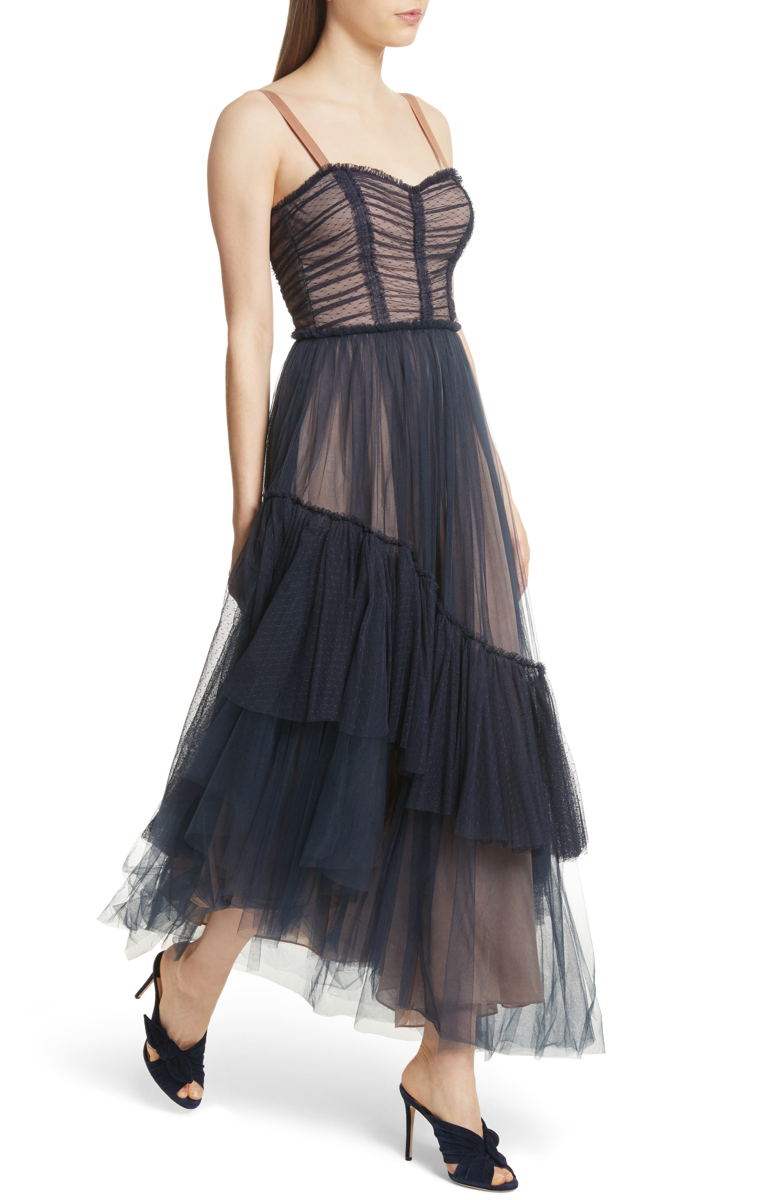 Alternate Image 4  - Cinq à Sept Coletta Asymmetrical Tulle Dress
