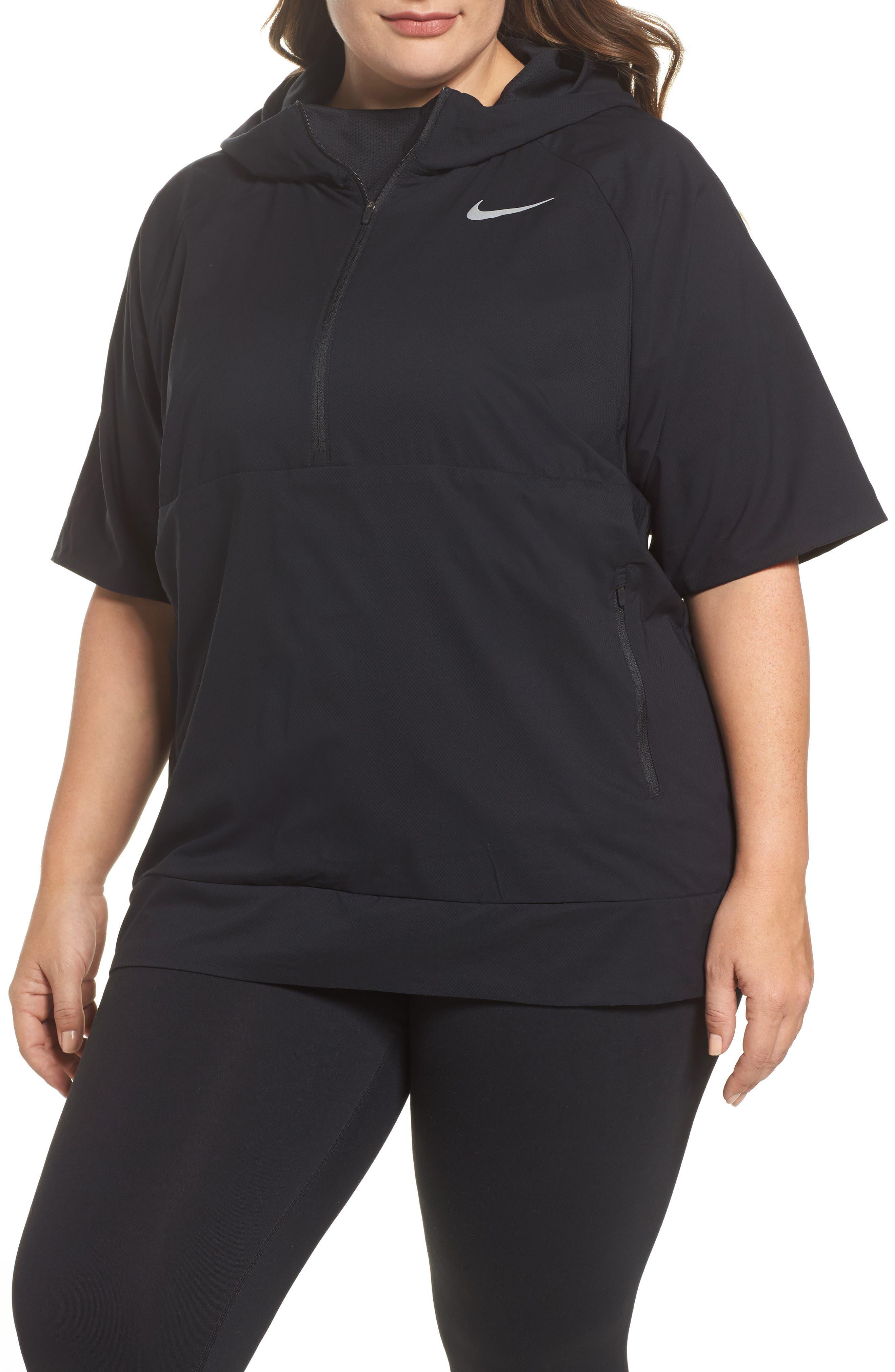 Flex Hooded Running Jacket,                         Main,                         color, Black