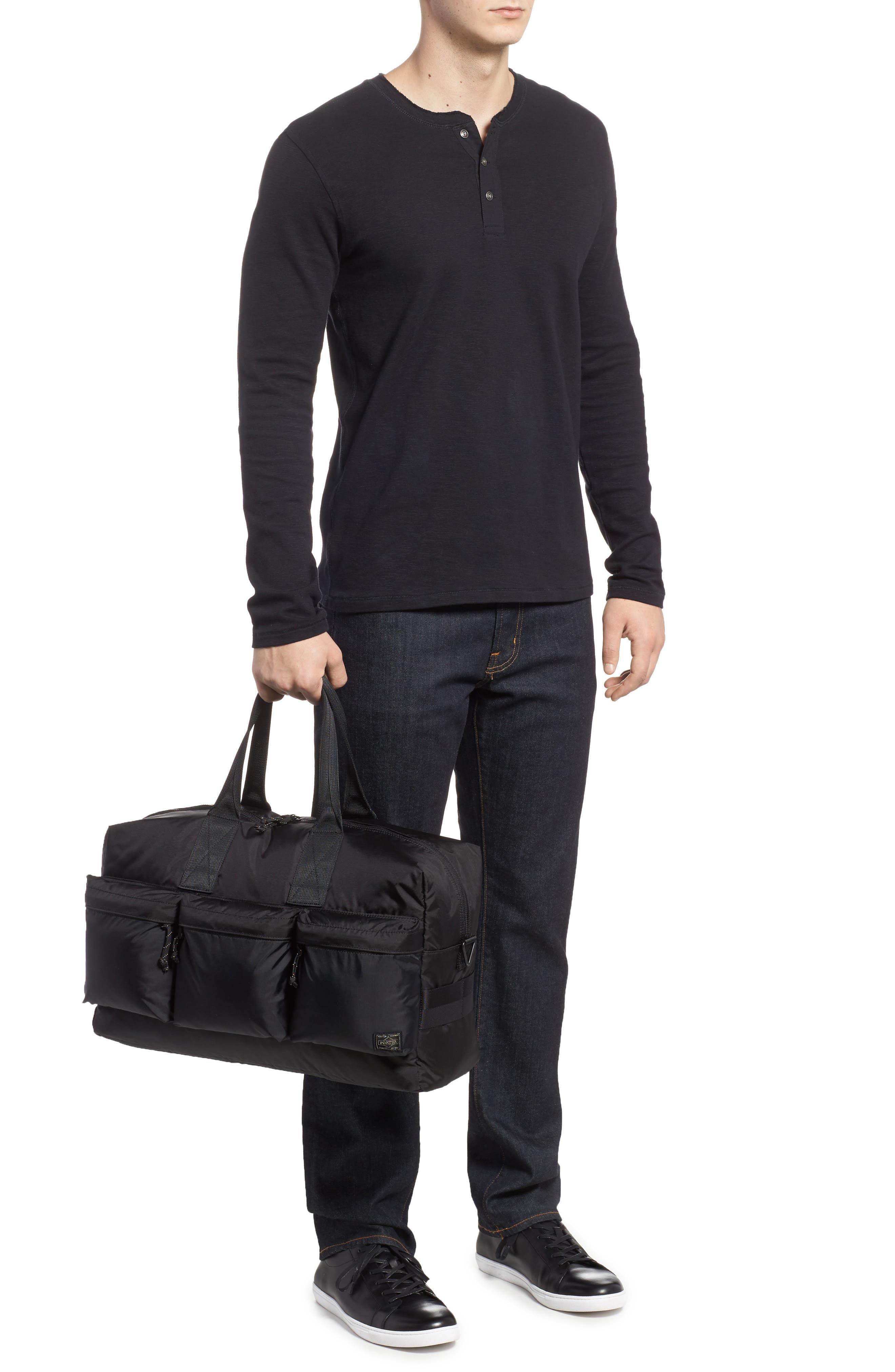 Porter-Yoshida & Co. Force Duffel Bag,                             Alternate thumbnail 2, color,                             Black