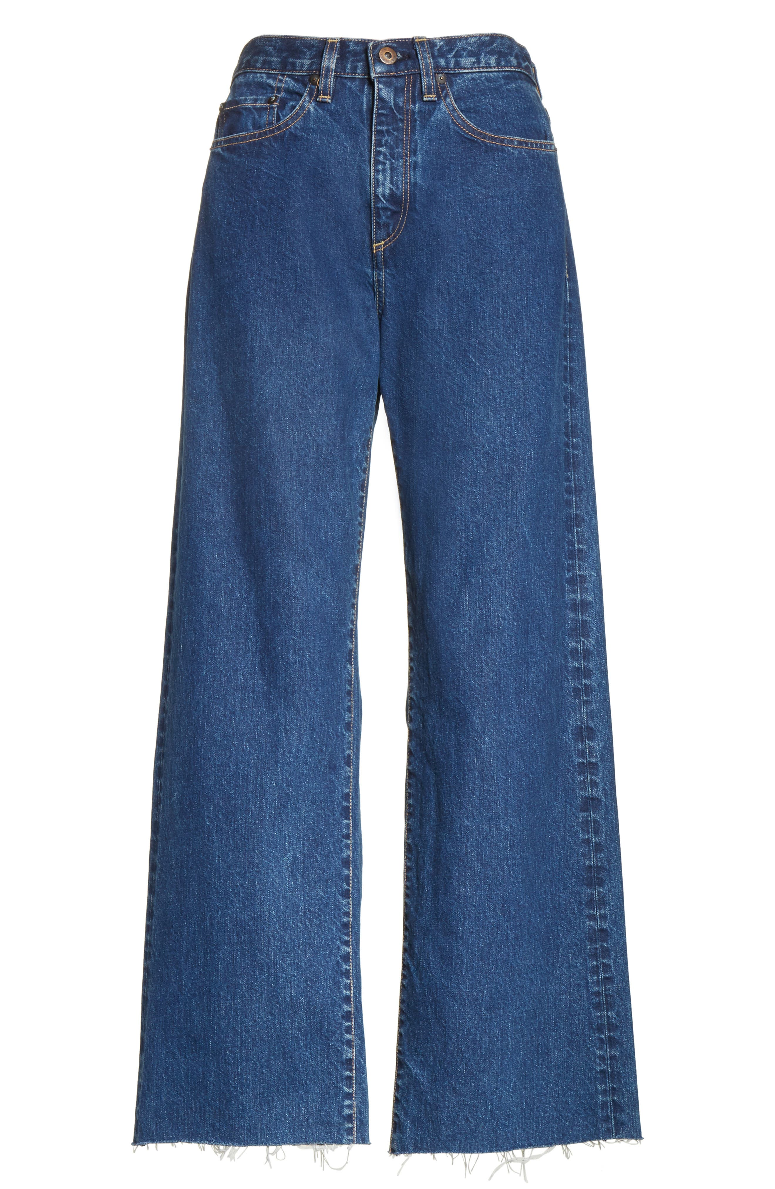 Toluca High Waist Wide Leg Jeans,                             Alternate thumbnail 8, color,                             Indigo