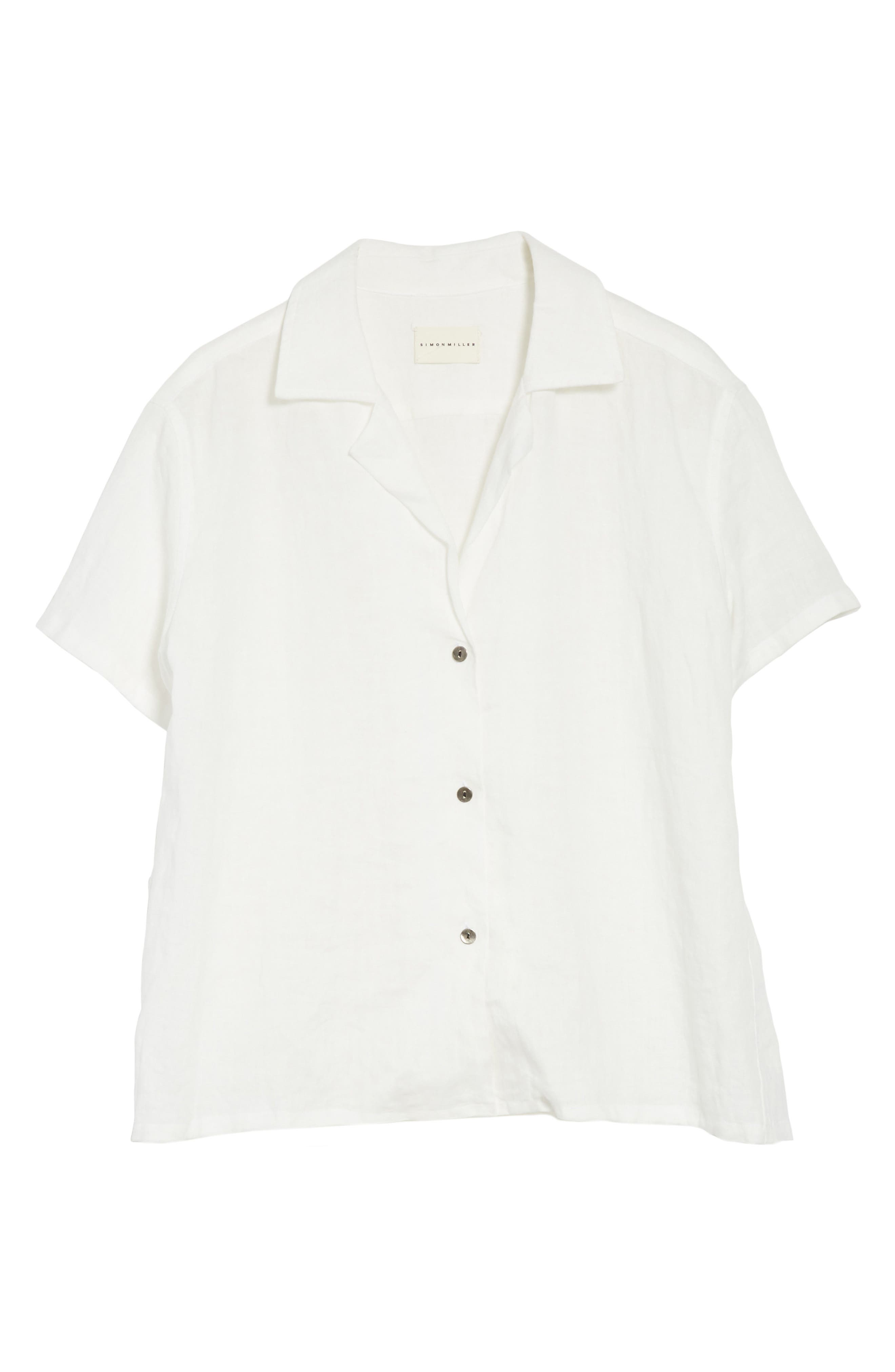 Alternate Image 6  - Simon Miller Kinney Linen Blouse