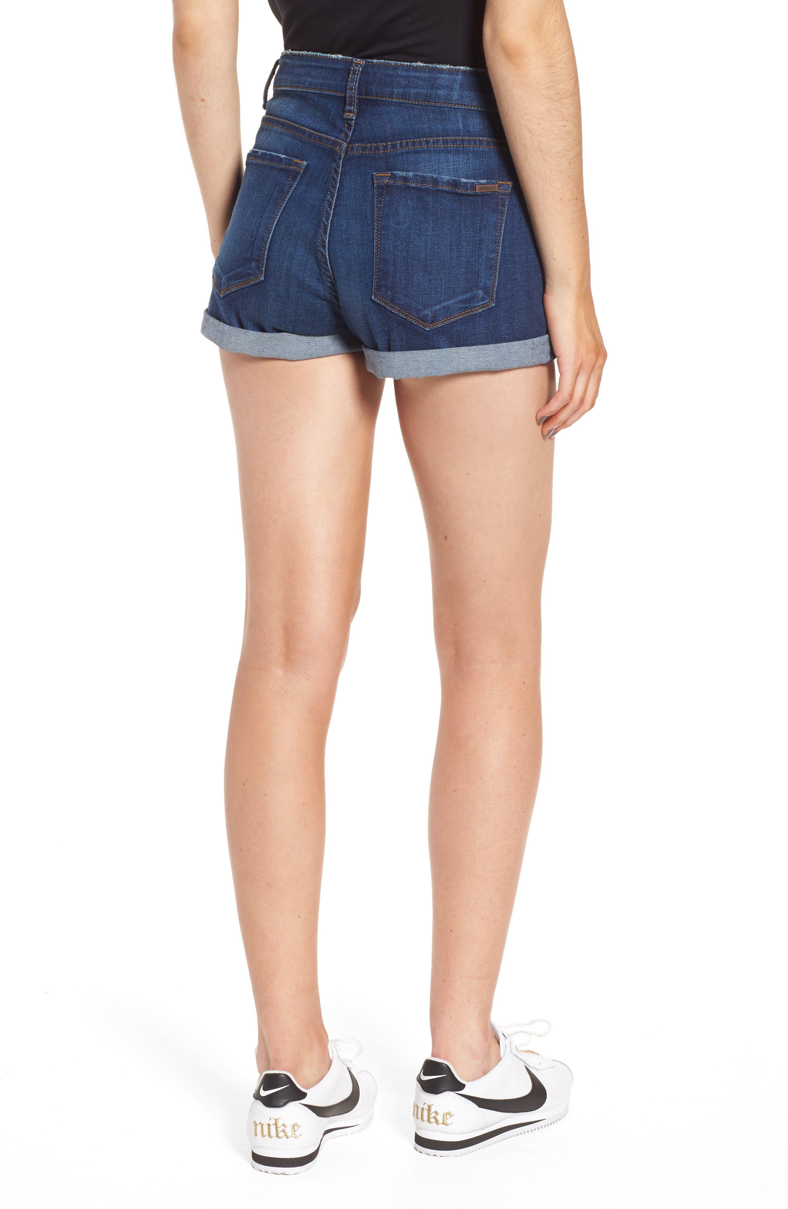 Rose Bowl Cuffed Denim Shorts,                             Alternate thumbnail 2, color,                             Sageland