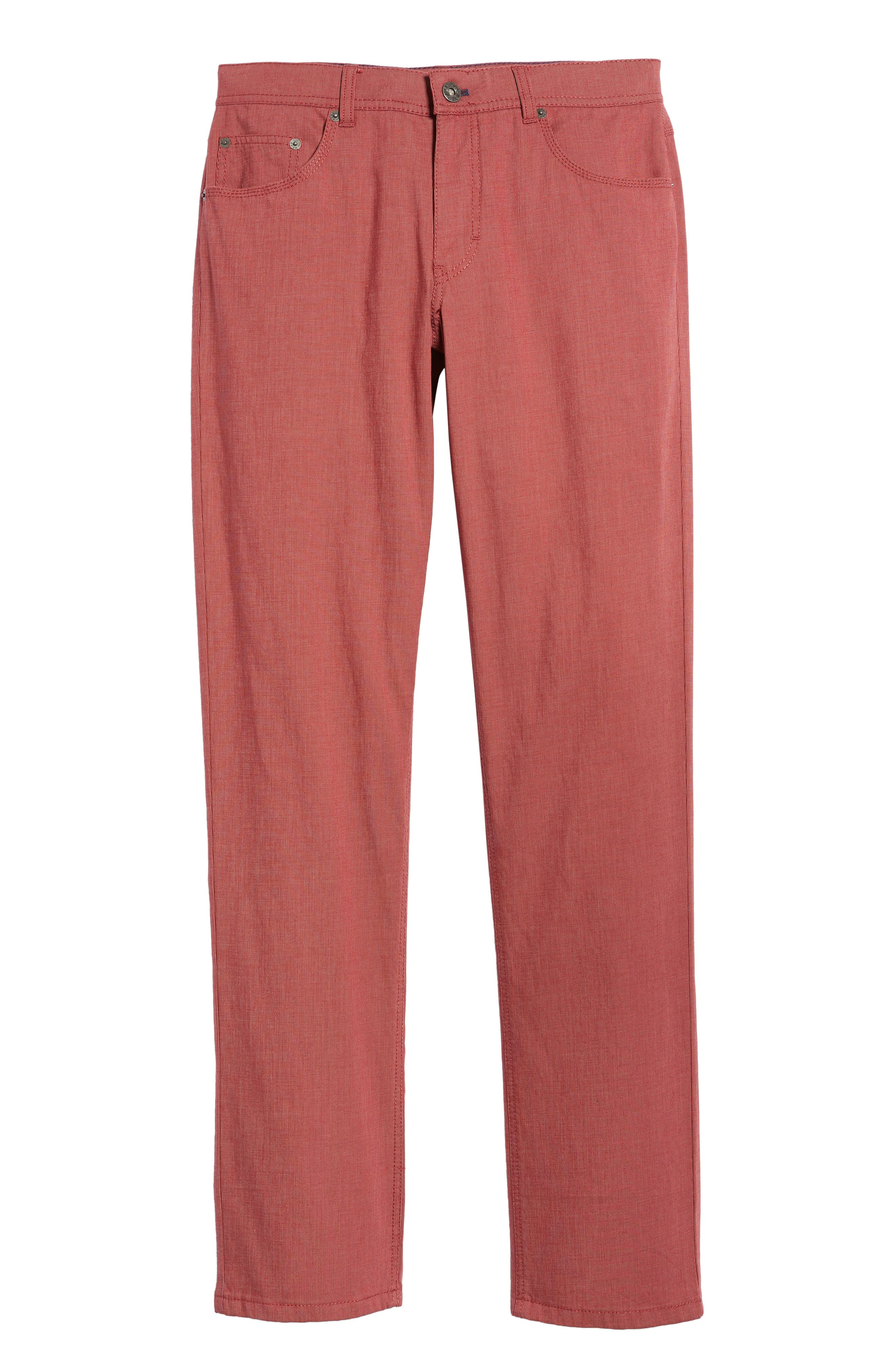 Sensation Stretch Trousers,                             Alternate thumbnail 6, color,                             Red