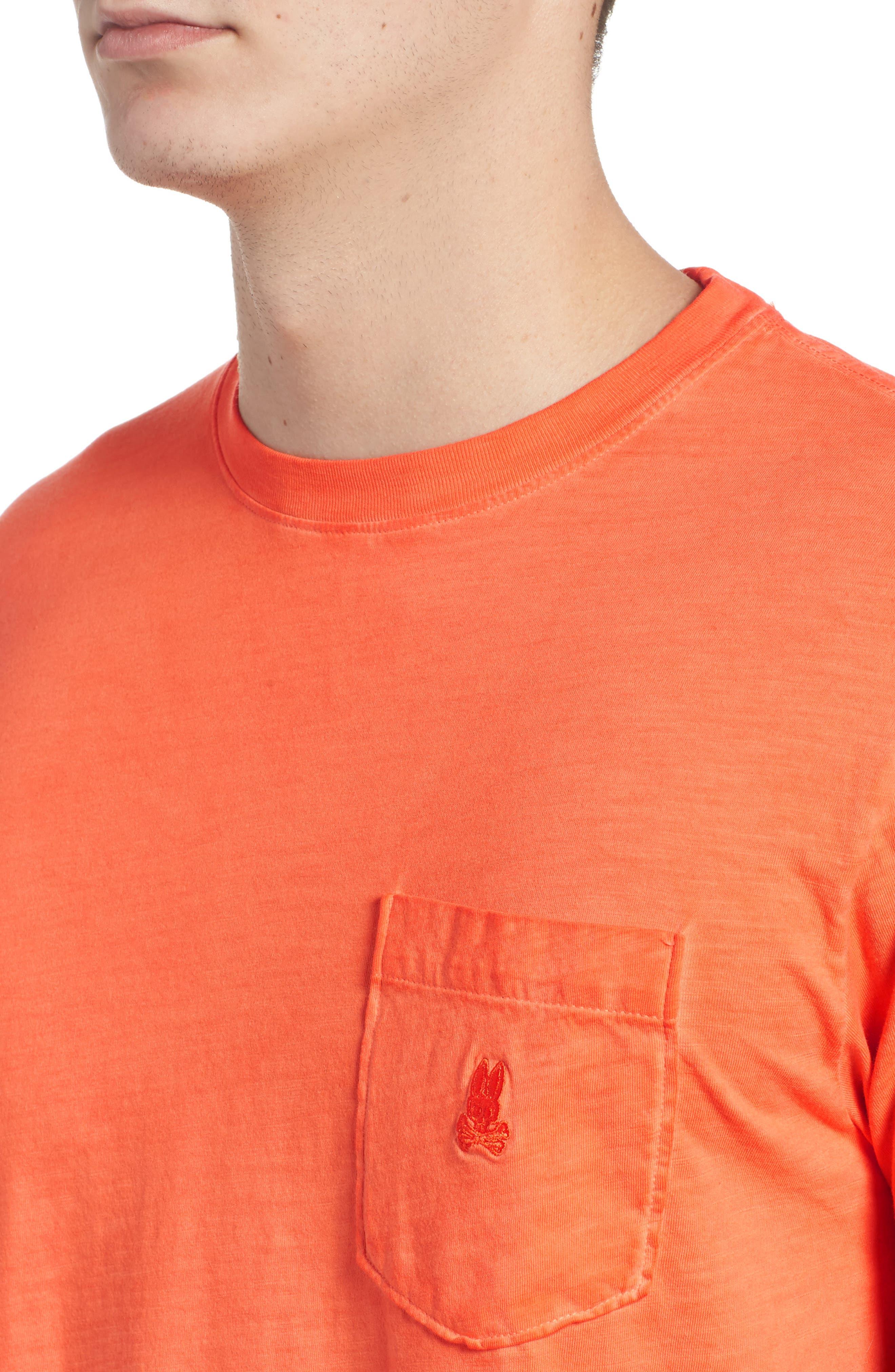 Sunwash Pocket T-Shirt,                             Alternate thumbnail 4, color,                             Mango