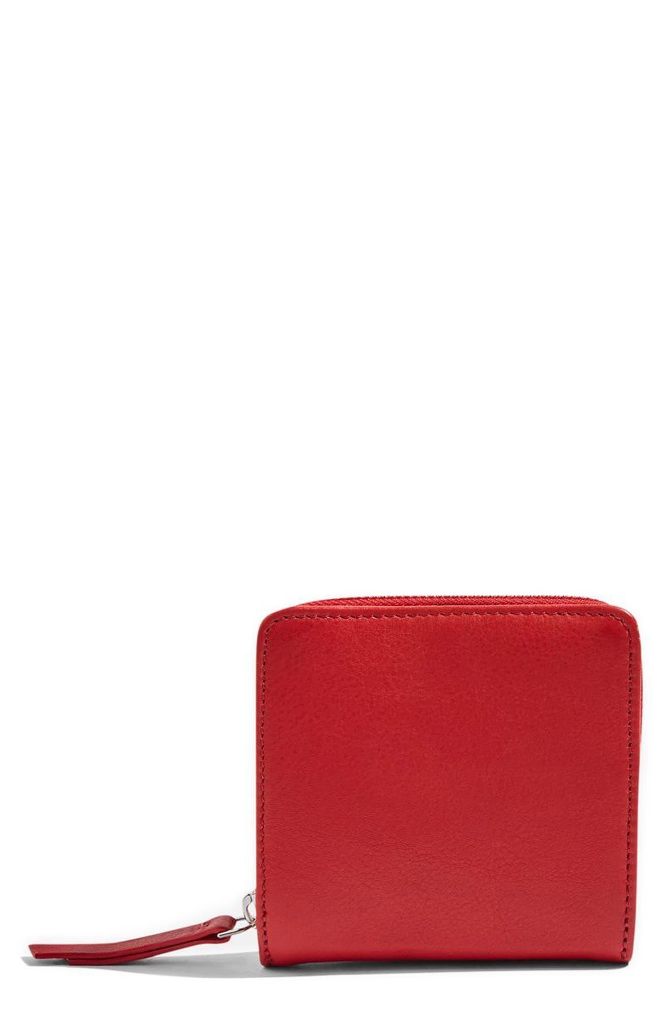 Topshop Leather Zip Around Wallet