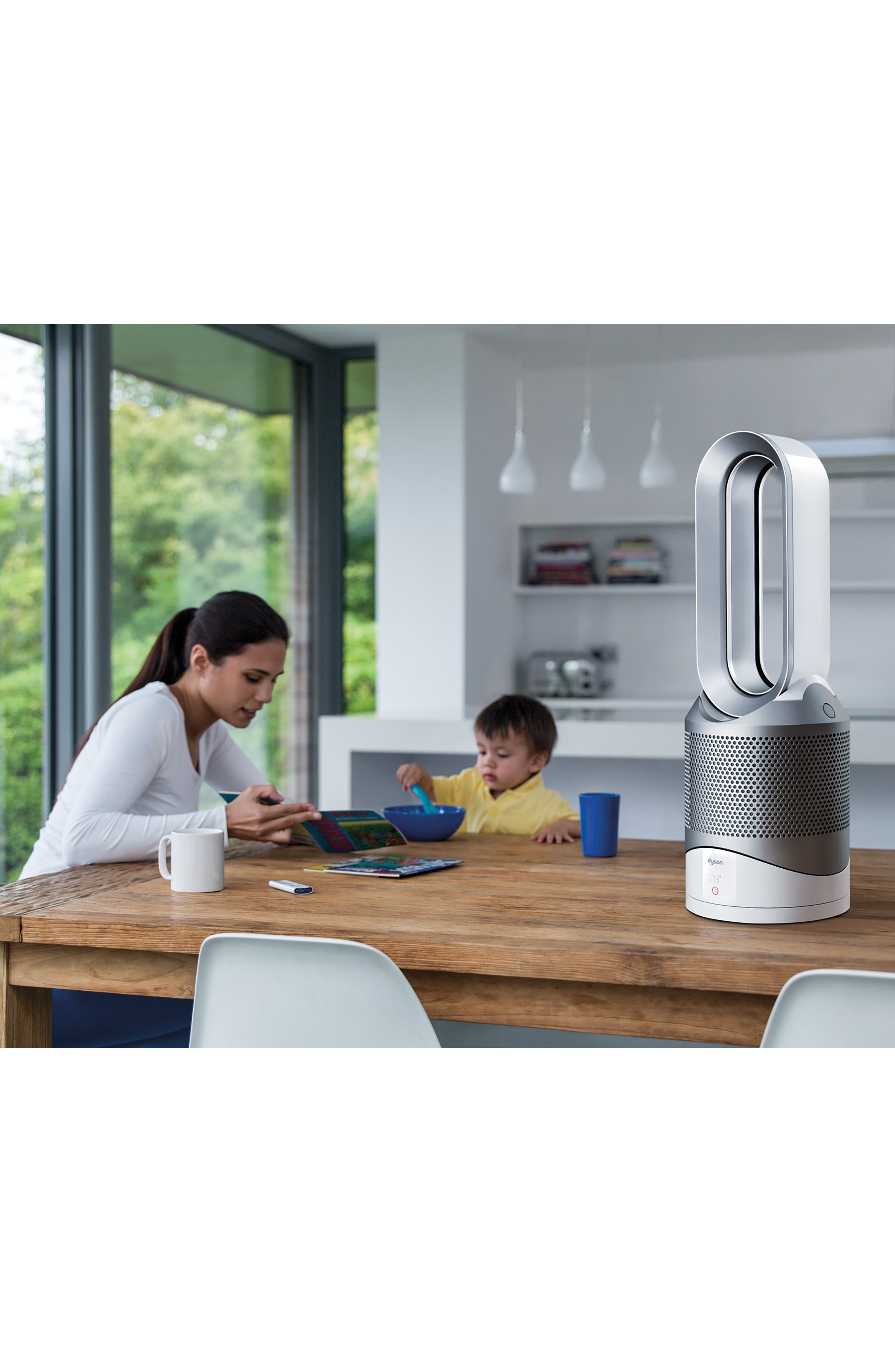 Pure Hot + Cool Link Air Purifier,                             Alternate thumbnail 2, color,                             White/ Silver