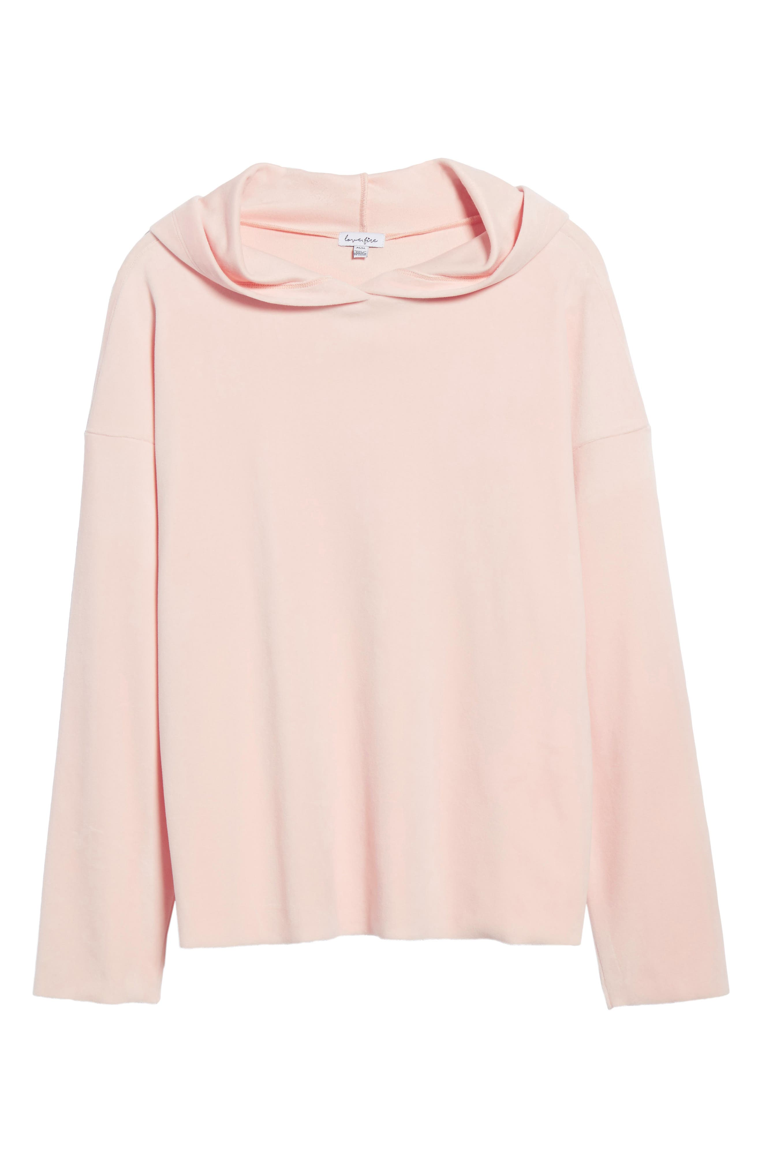 Velour Hoodie,                             Alternate thumbnail 6, color,                             Blush