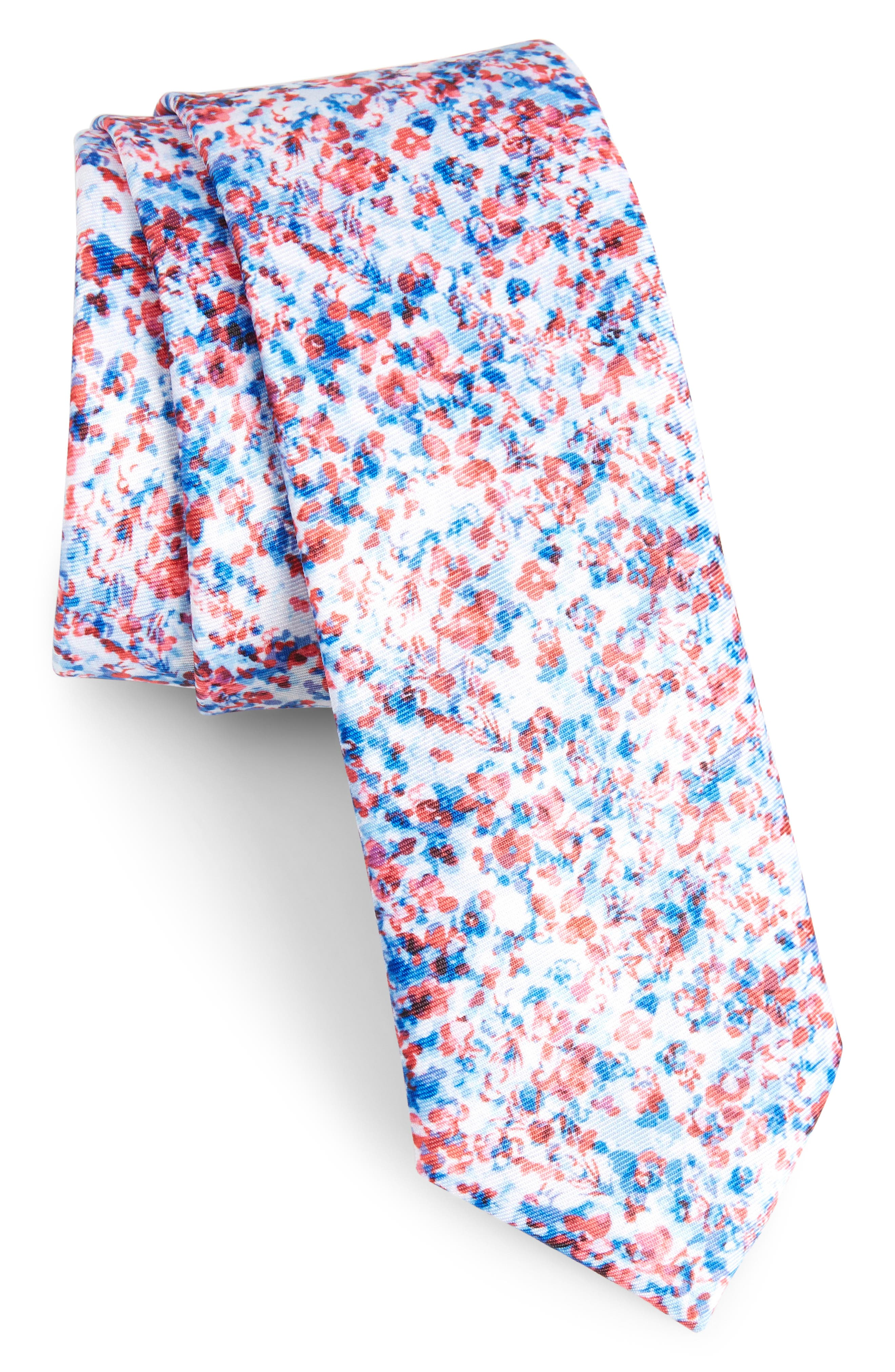 Calibrate Marquette Floral Skinny Tie