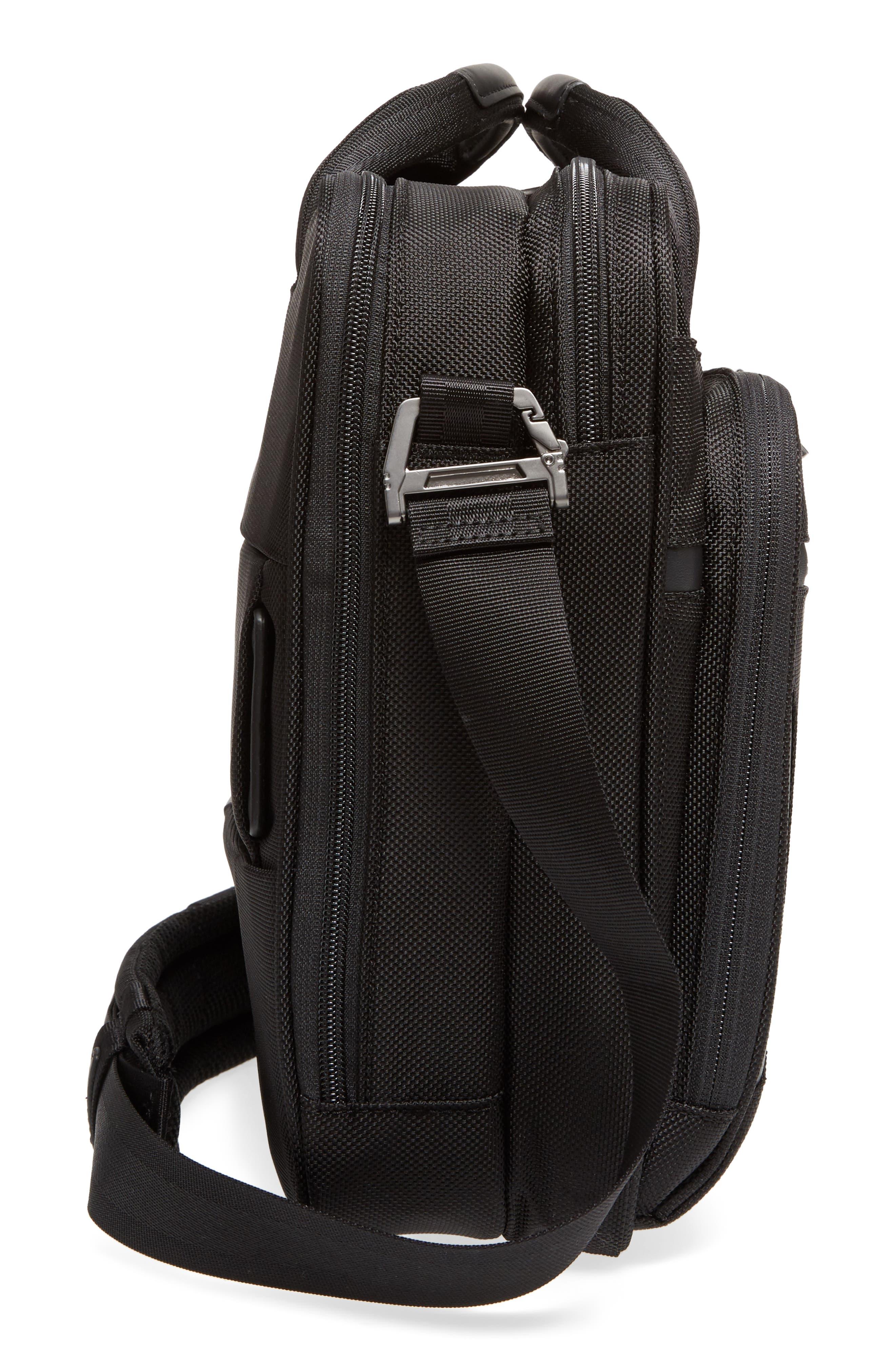 'Medium' Ballistic Nylon Briefcase,                             Alternate thumbnail 5, color,                             Black