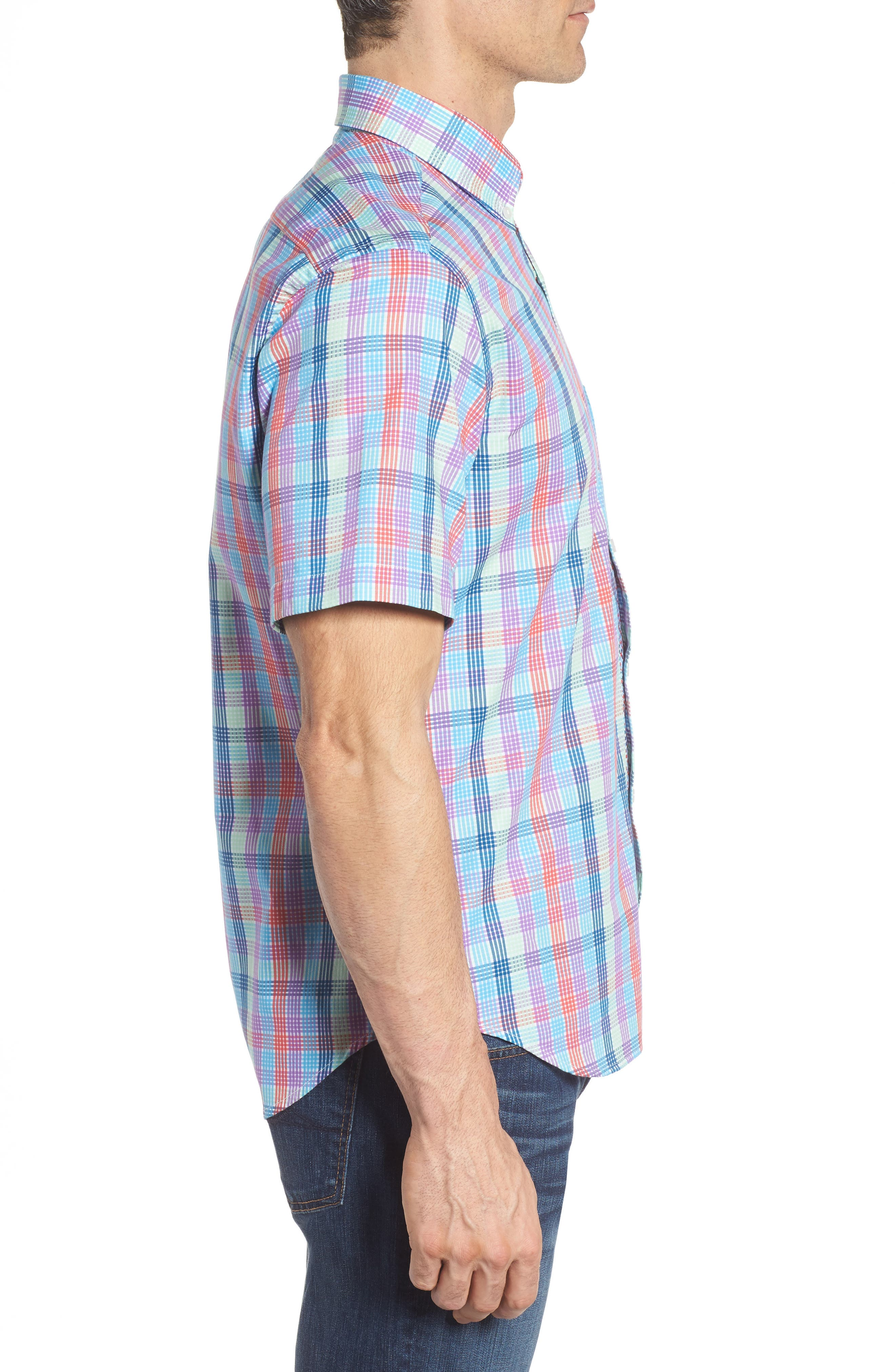 Alternate Image 3  - TailorByrd Slidell Regular Fit Check Sport Shirt