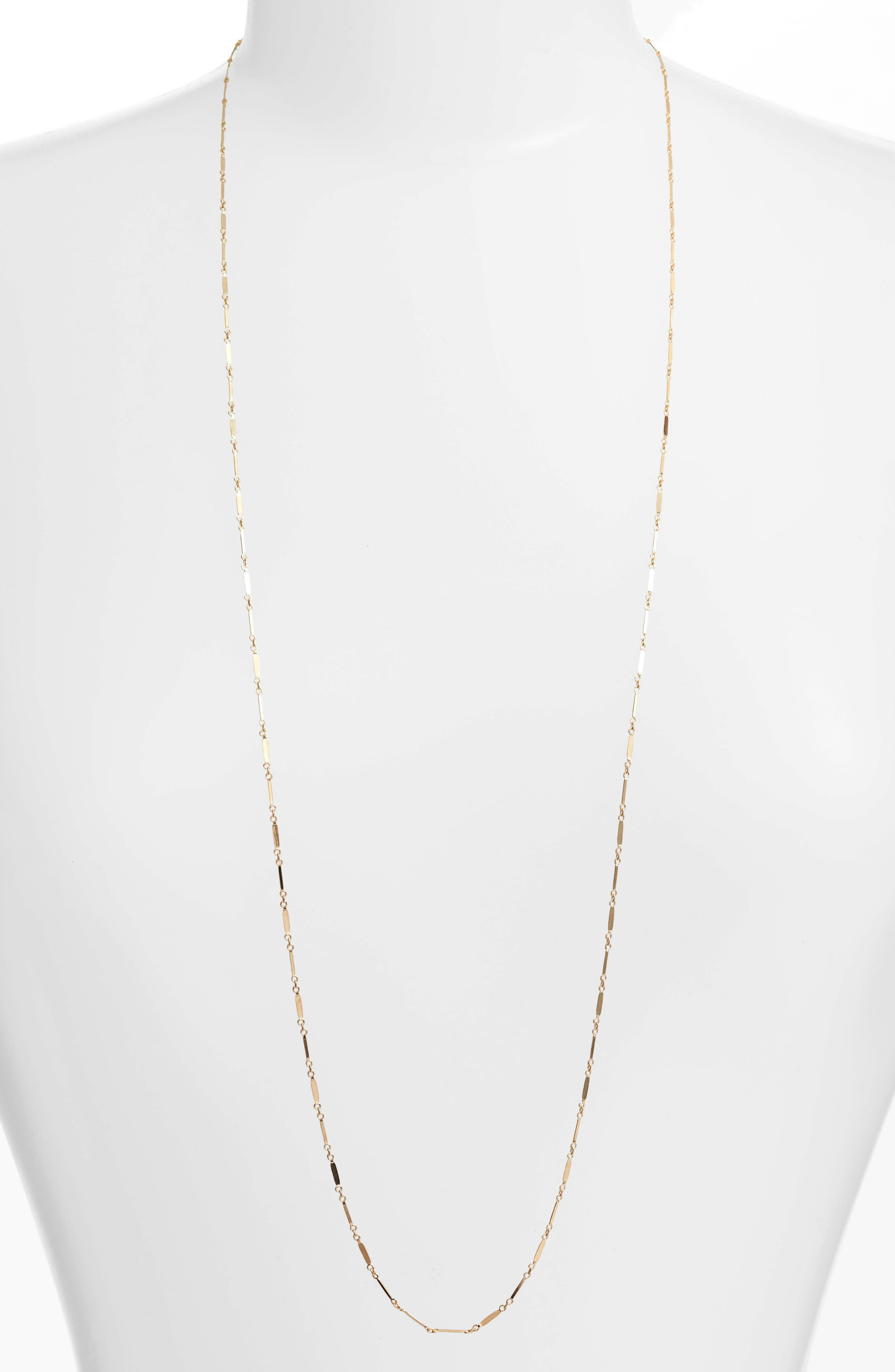 Mirror Bar Station Necklace,                         Main,                         color, Gold