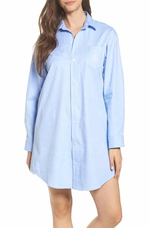 Lauren Ralph Lauren Stretch Cotton Sleep Shirt