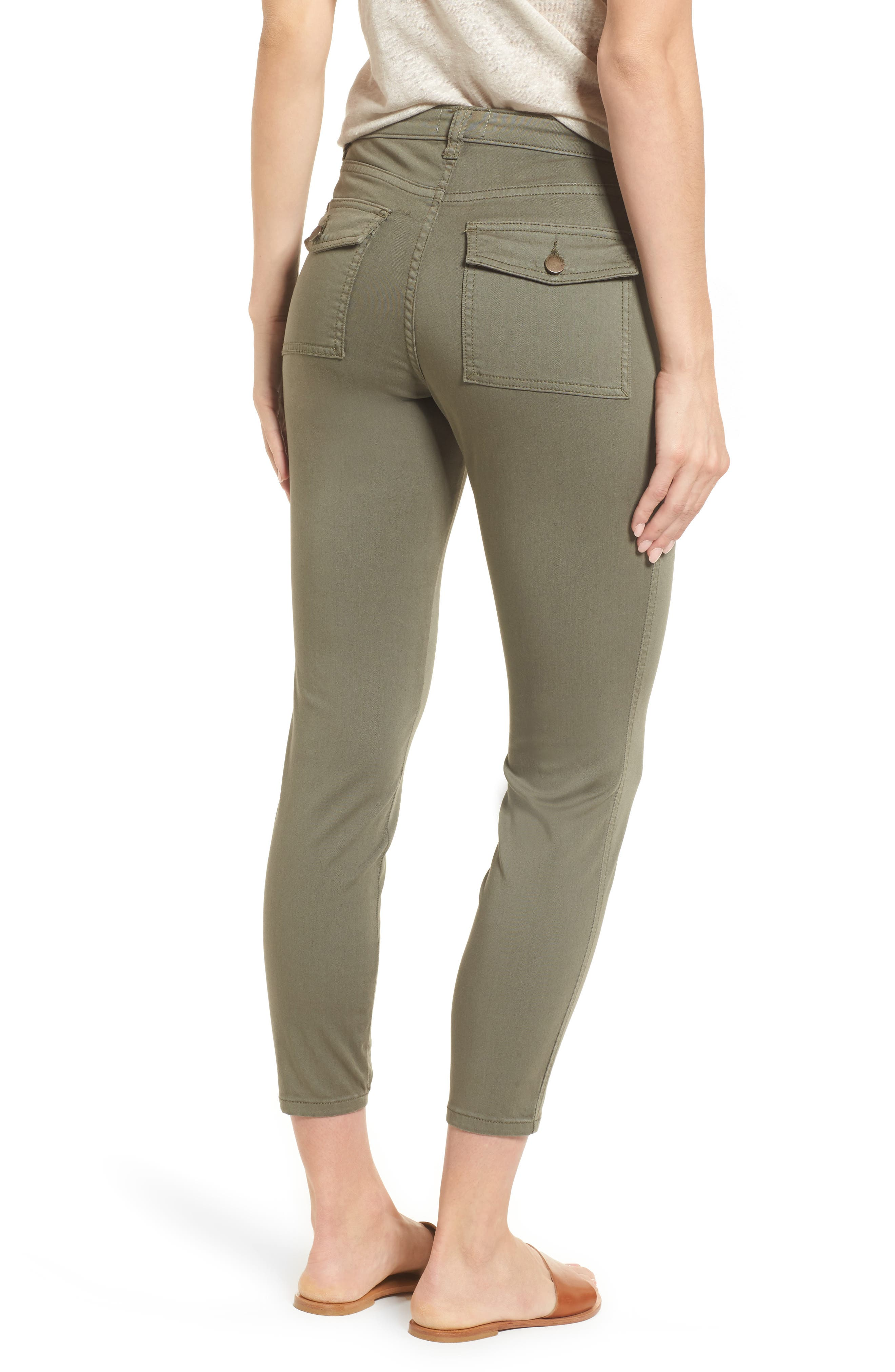 Crop Utility Pants,                             Alternate thumbnail 2, color,                             Olive