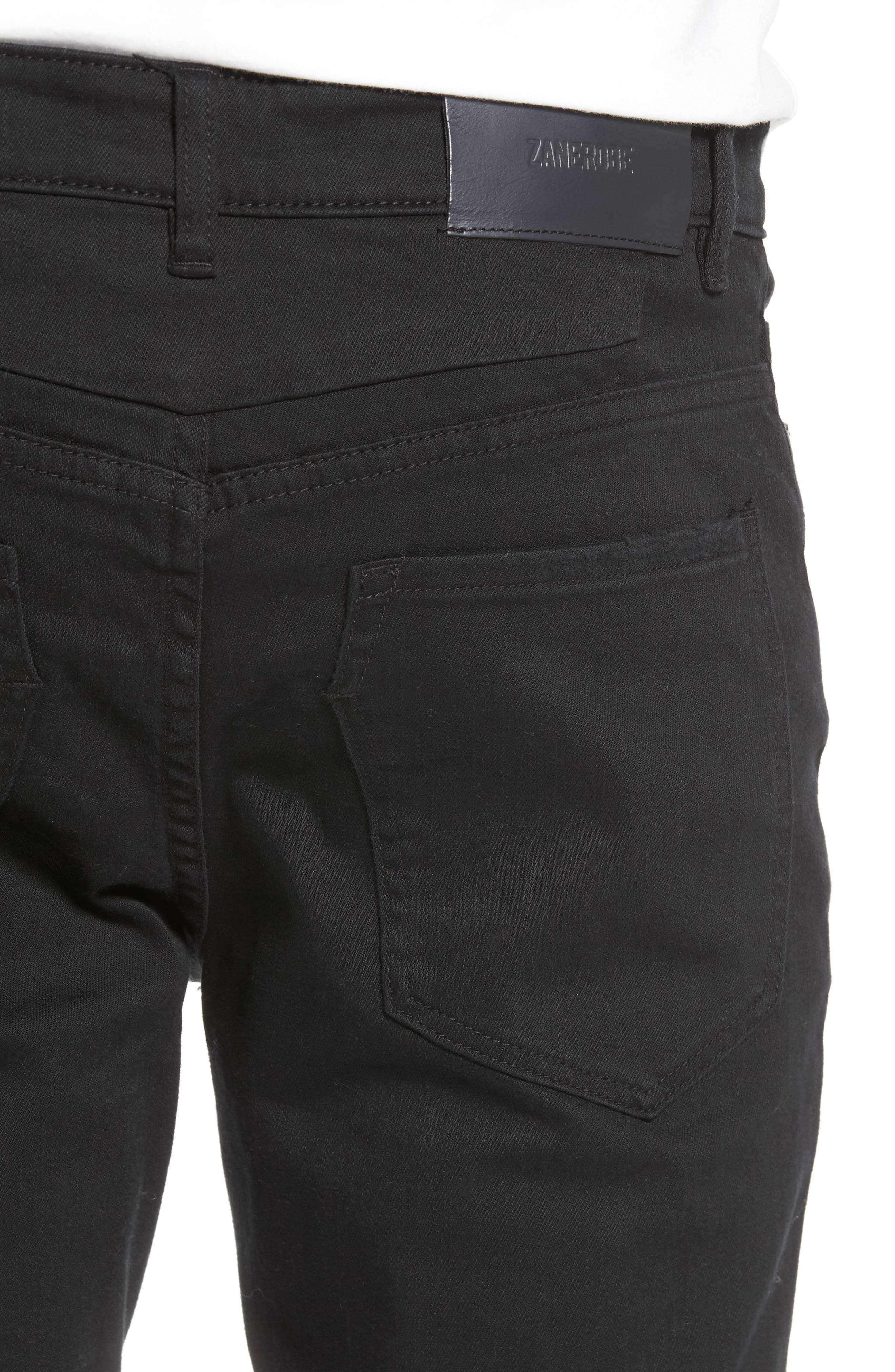 Joe Blow Destroyed Denim Jeans,                             Alternate thumbnail 4, color,                             Black Shred