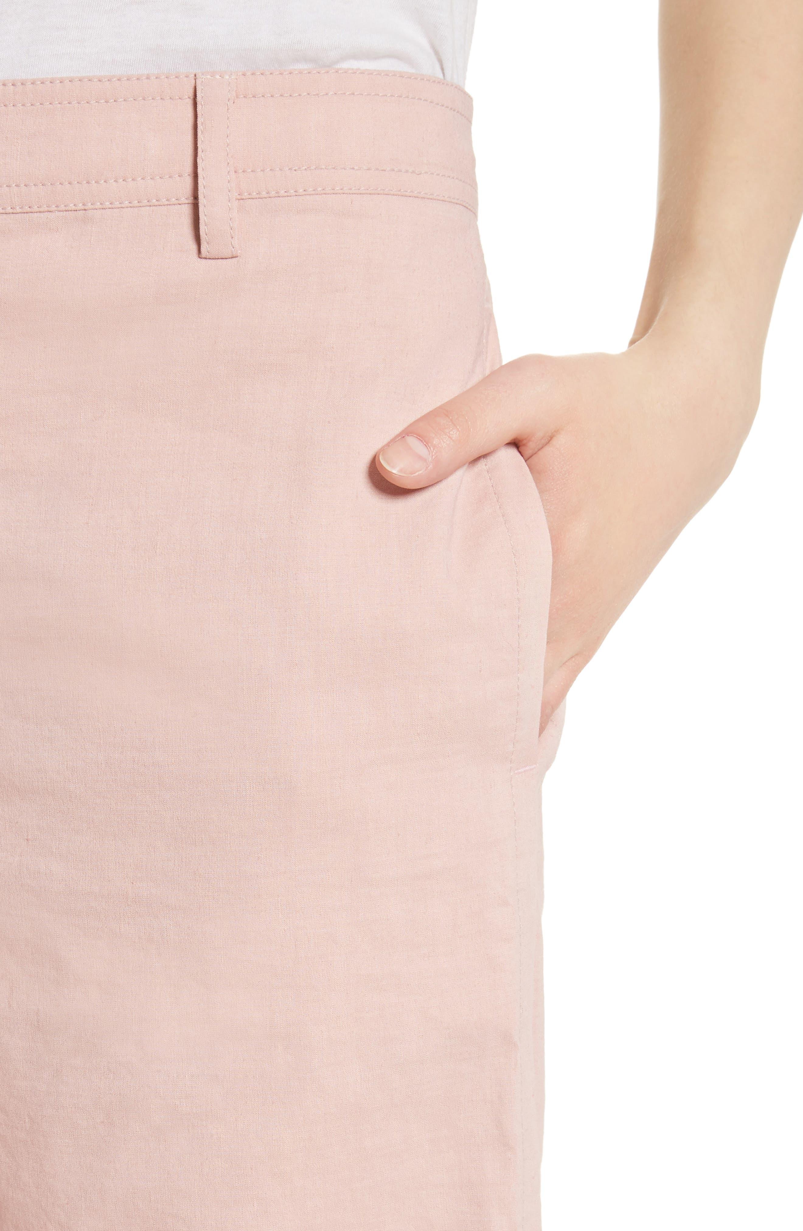 Fluid Wide Leg Crop Pants,                             Alternate thumbnail 4, color,                             Pink Ballet