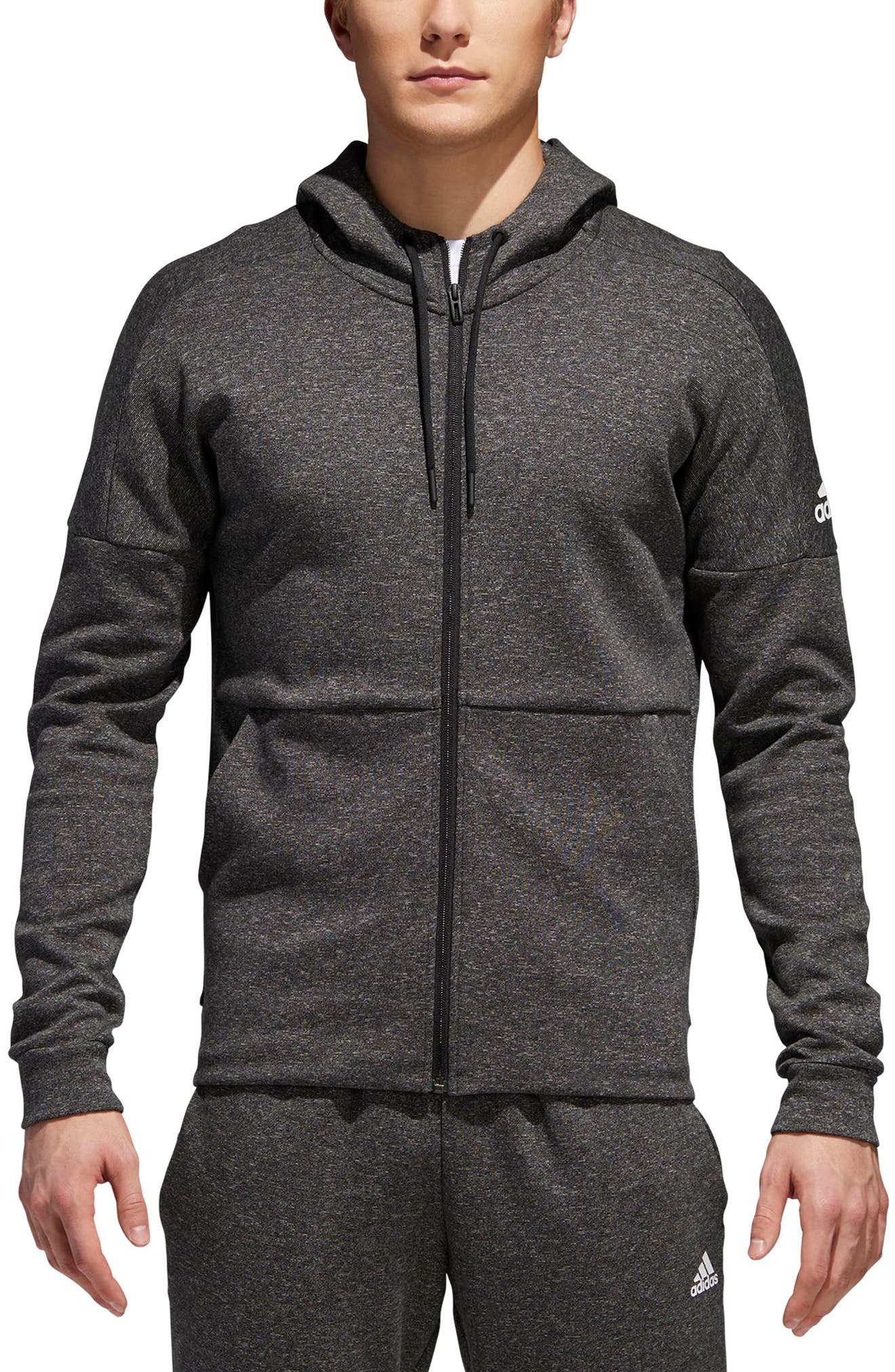 ID Stadium Zip Hoodie,                         Main,                         color, Stadium Htr/ Black