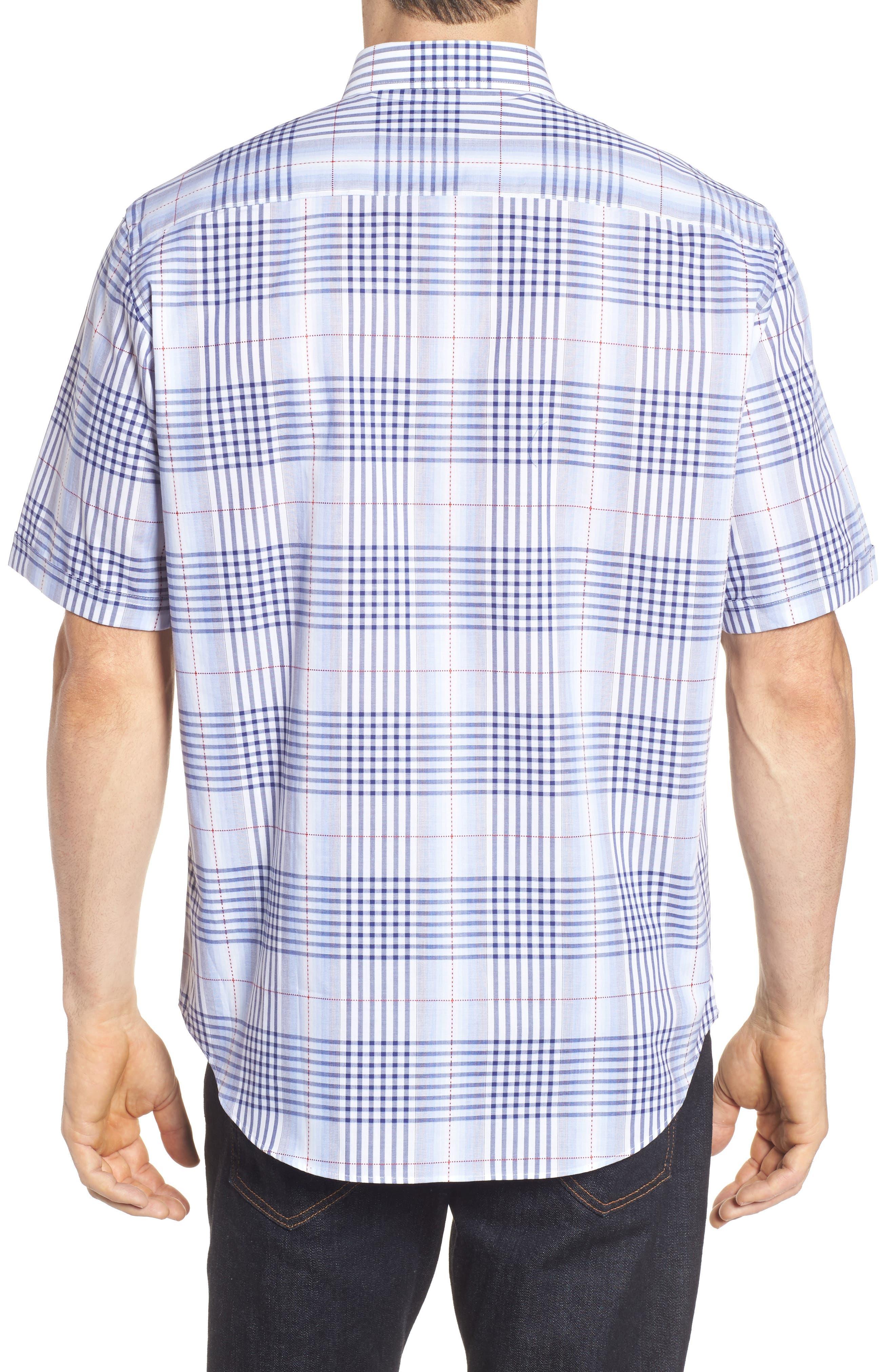 Alternate Image 2  - Bugatchi Classic Fit Plaid Sport Shirt
