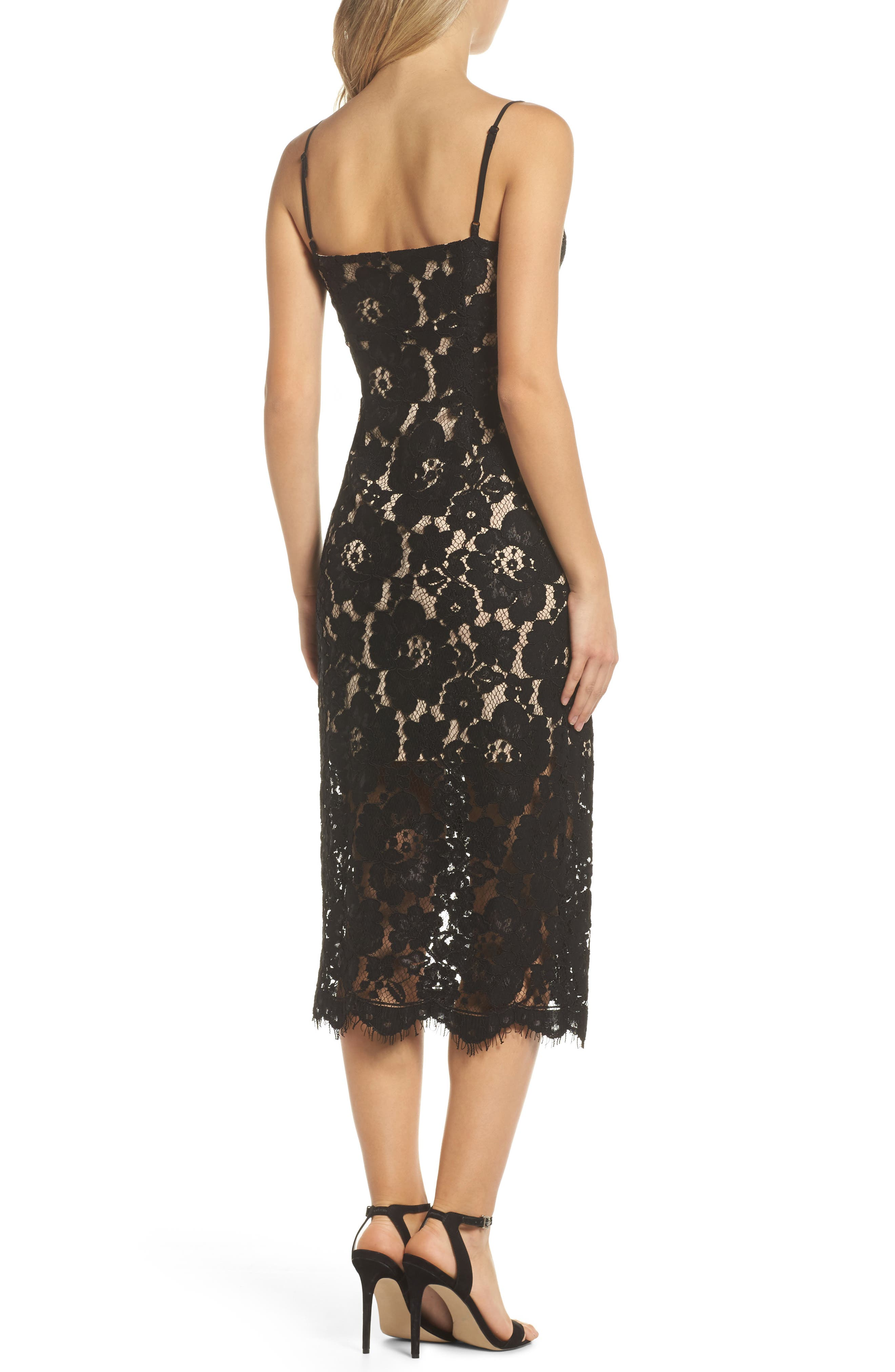 Alternate Image 2  - NSR Lace Midi Slipdress