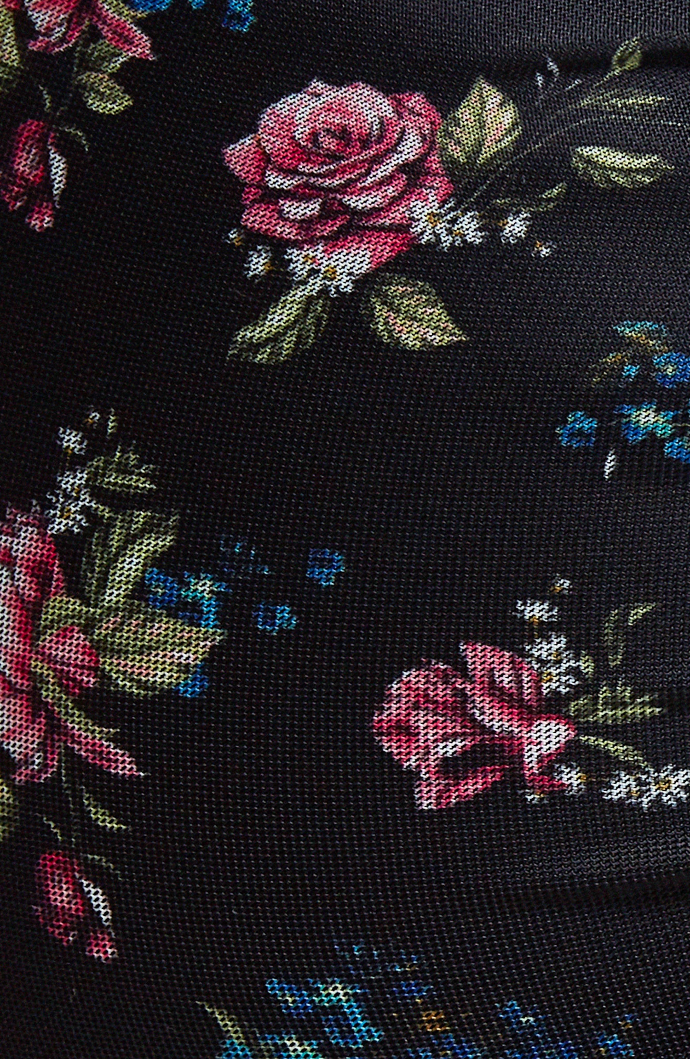 Alternate Image 6  - AFRM Angela Mesh Plaid Dress