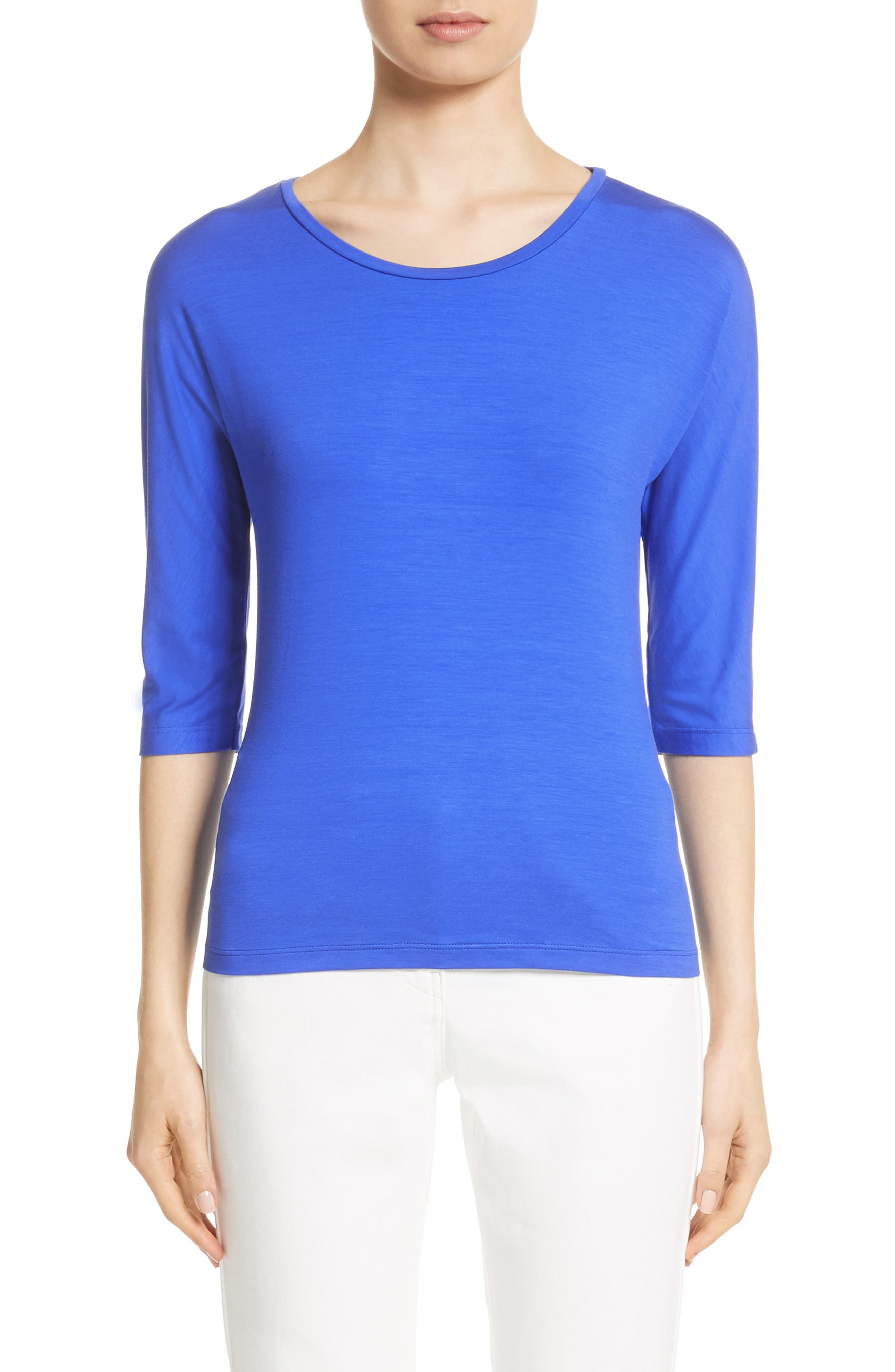 Circe Jersey Tee,                             Main thumbnail 1, color,                             Cornflower Blue