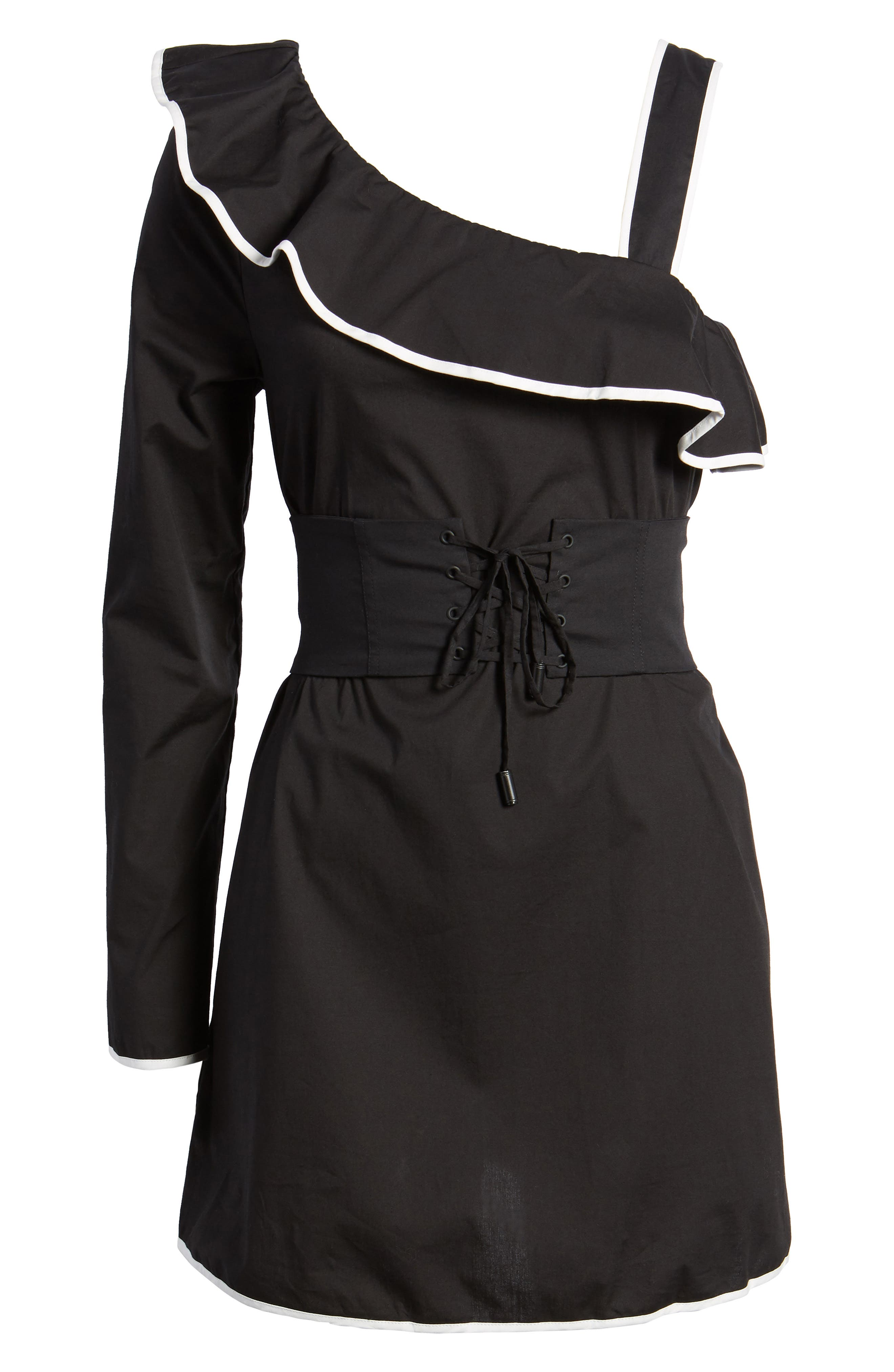 Alternate Image 6  - Lovers + Friends Helen One-Shoulder Ruffle Dress