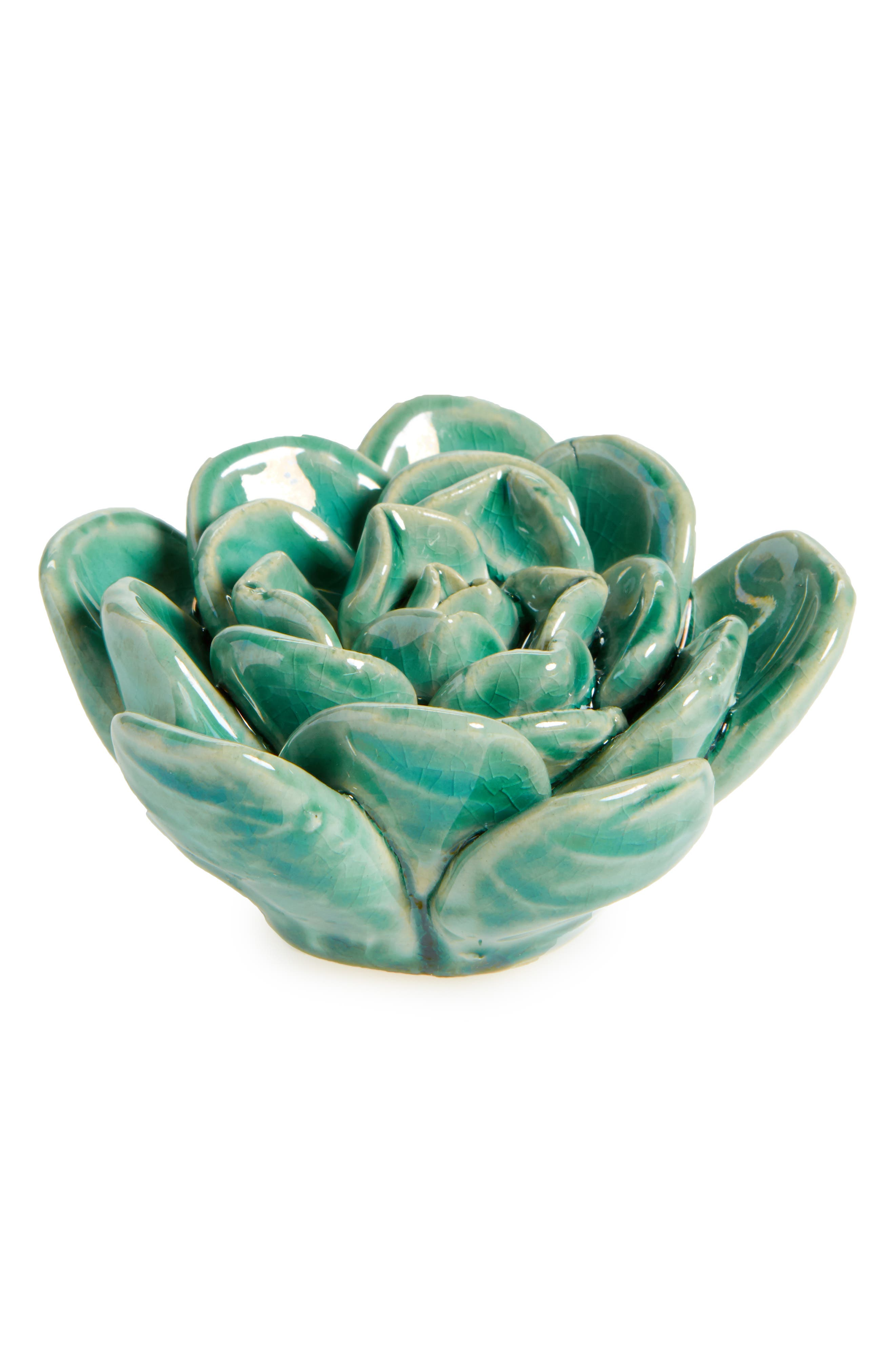 Ceramic Succulent,                             Main thumbnail 1, color,                             Green