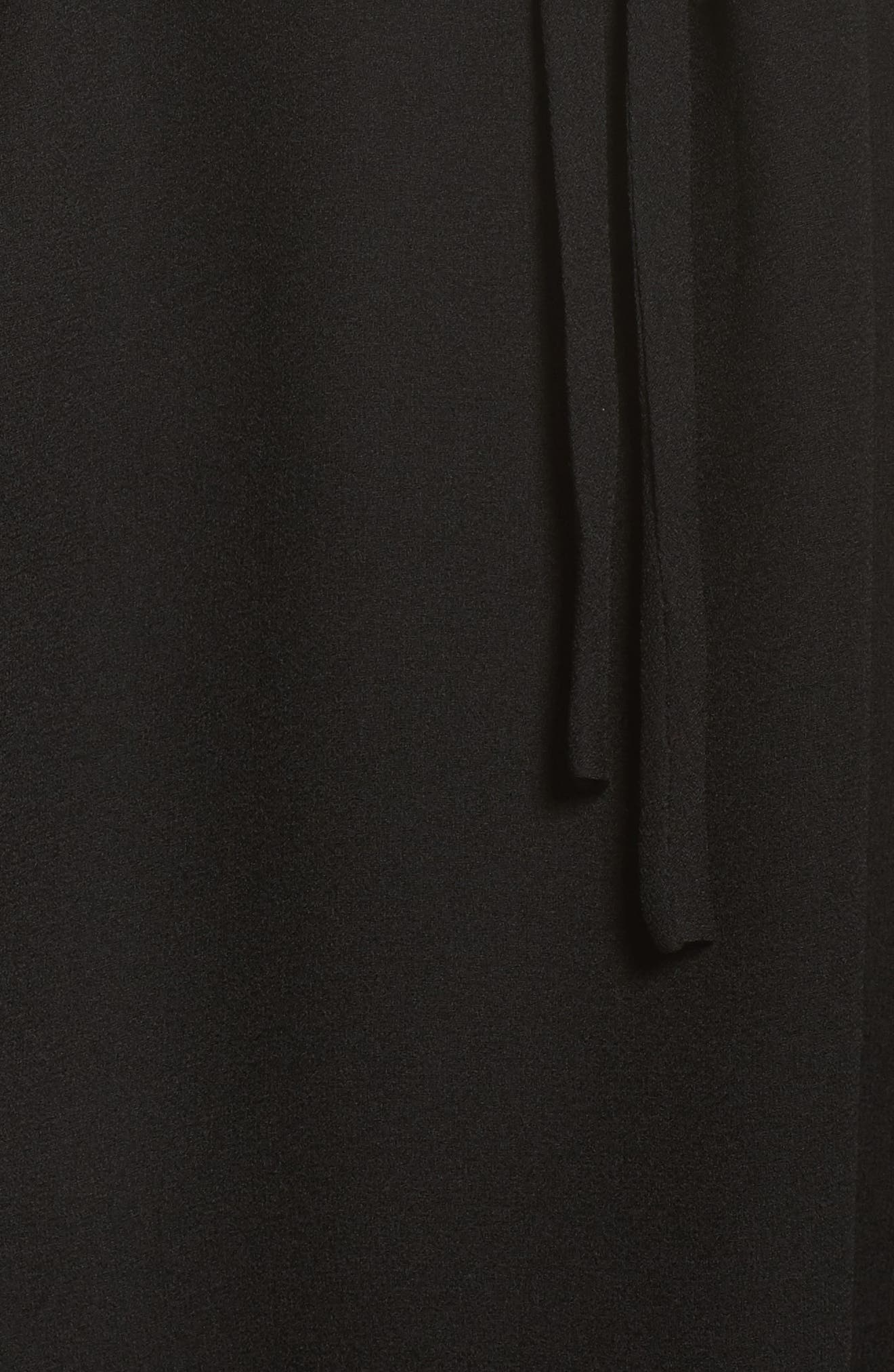 Kayla One-Shoulder Maxi Dress,                             Alternate thumbnail 5, color,                             Black