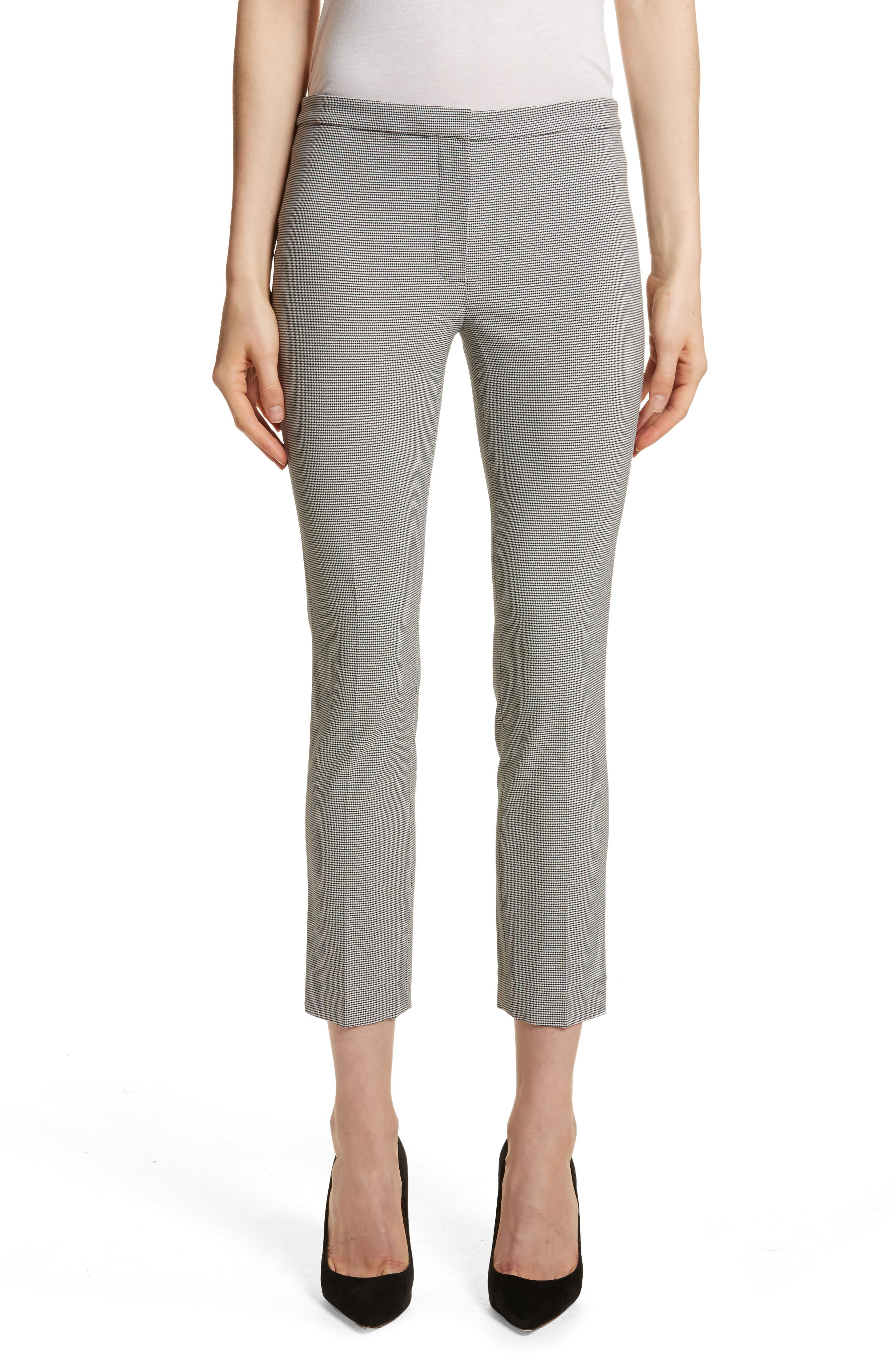 Theory Classic Houndstooth Crop Skinny Pants