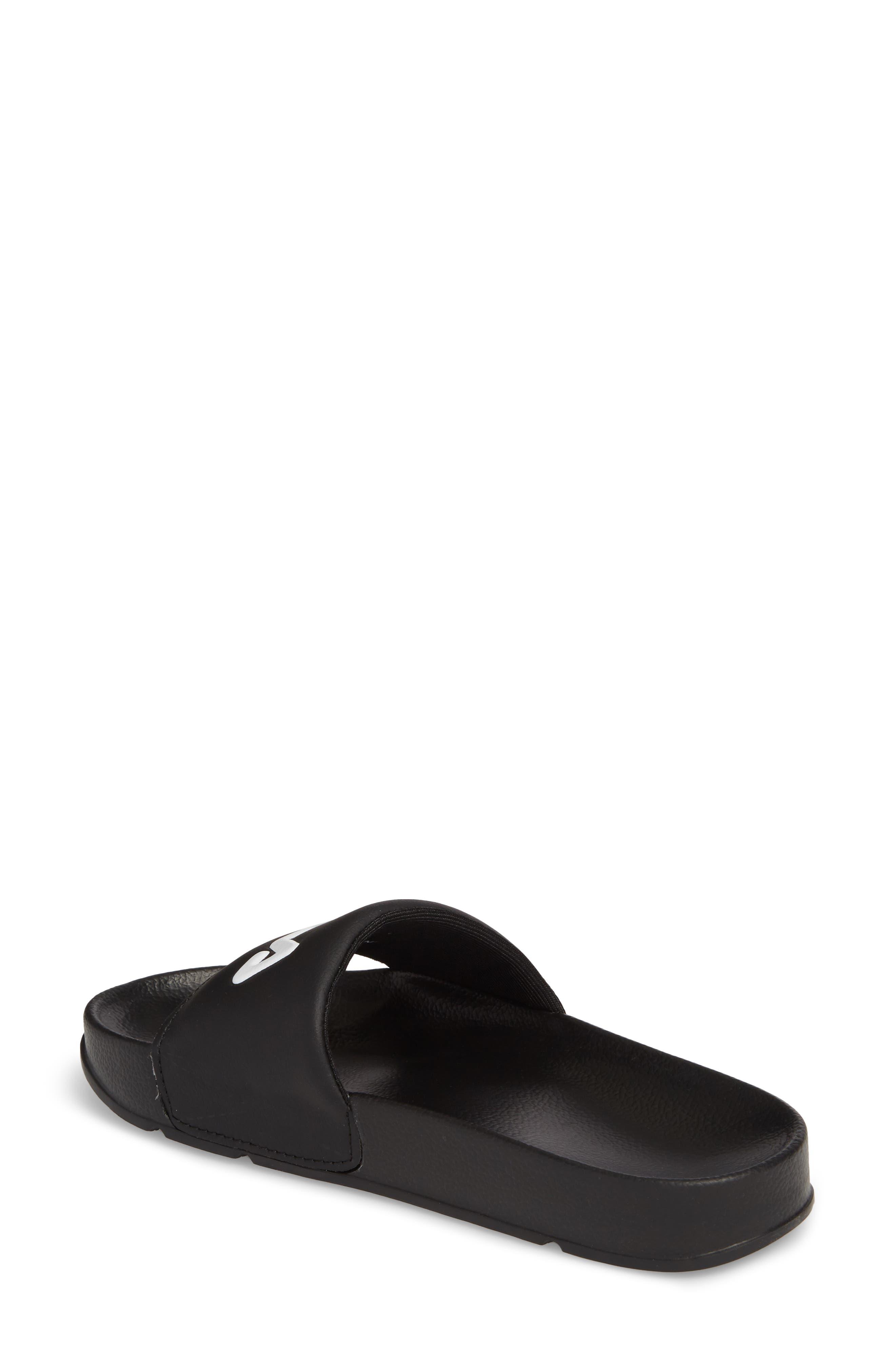 Drifter Slide Sandal,                             Alternate thumbnail 2, color,                             Black/ Red/ White