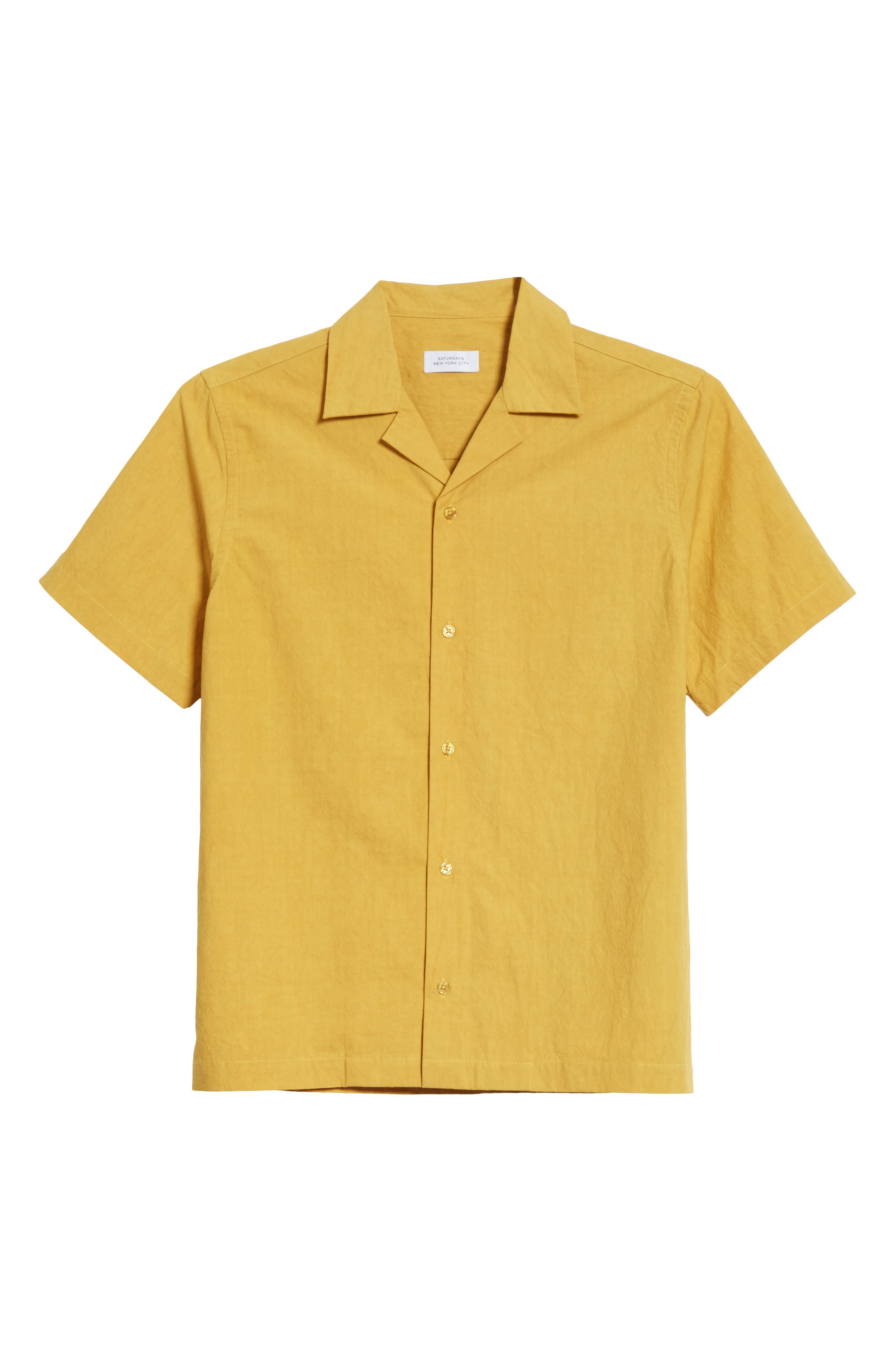Canty Woven Camp Shirt,                             Alternate thumbnail 6, color,                             Dusty Amber
