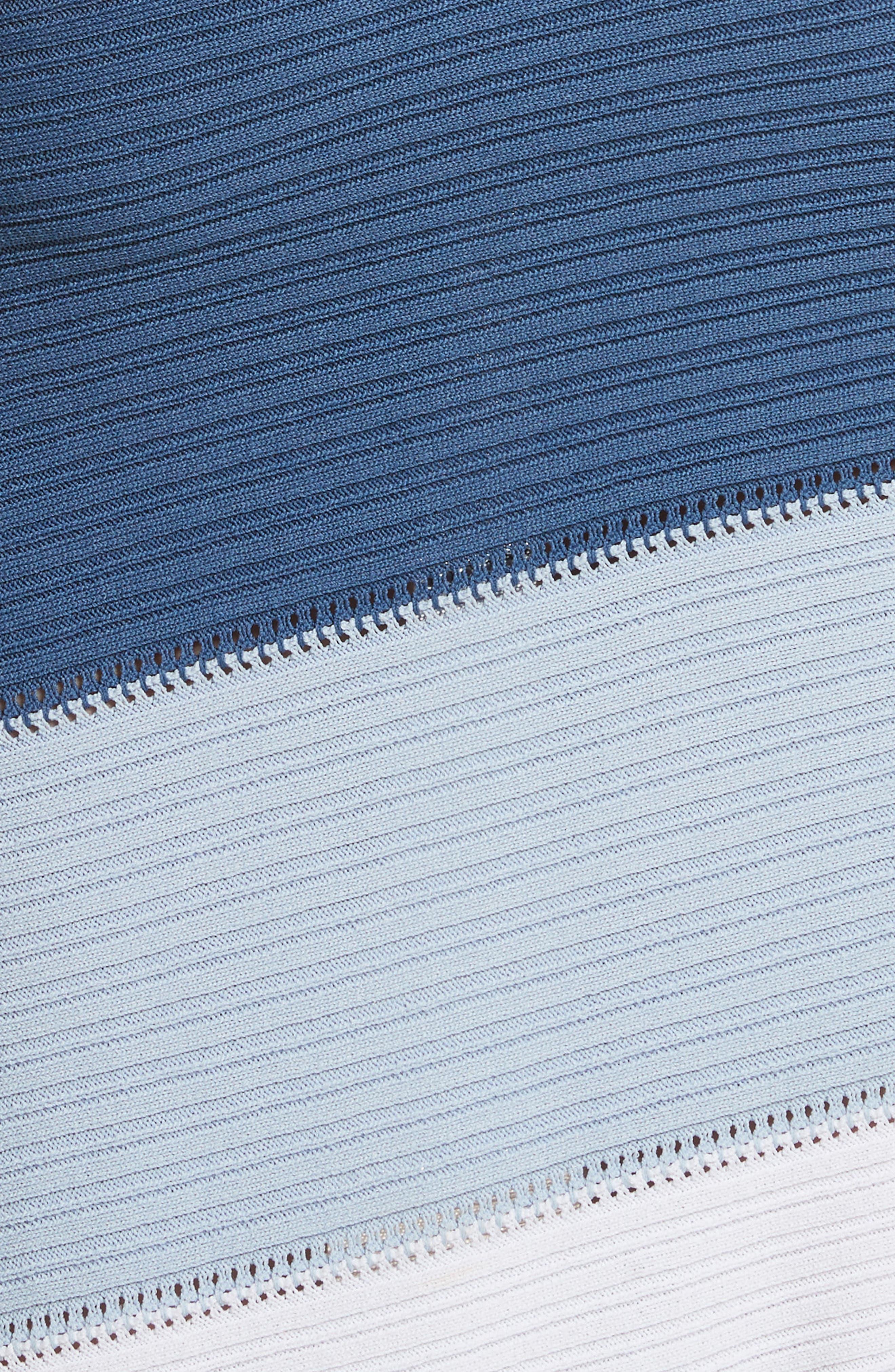 Linked Asymmetrical Dress,                             Alternate thumbnail 5, color,                             Blue Combo