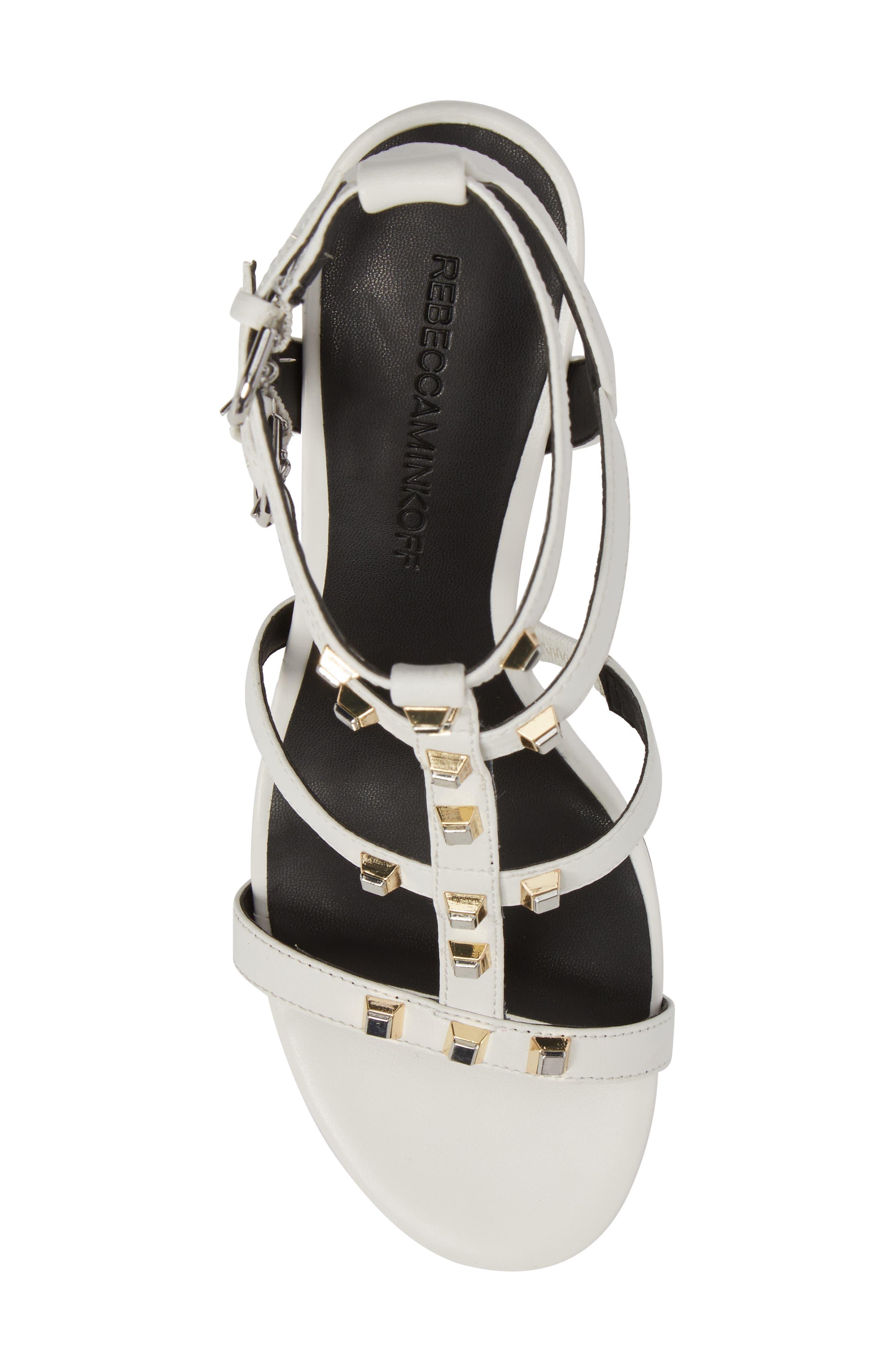 Lenore Sandal,                             Alternate thumbnail 5, color,                             Optic White Leather