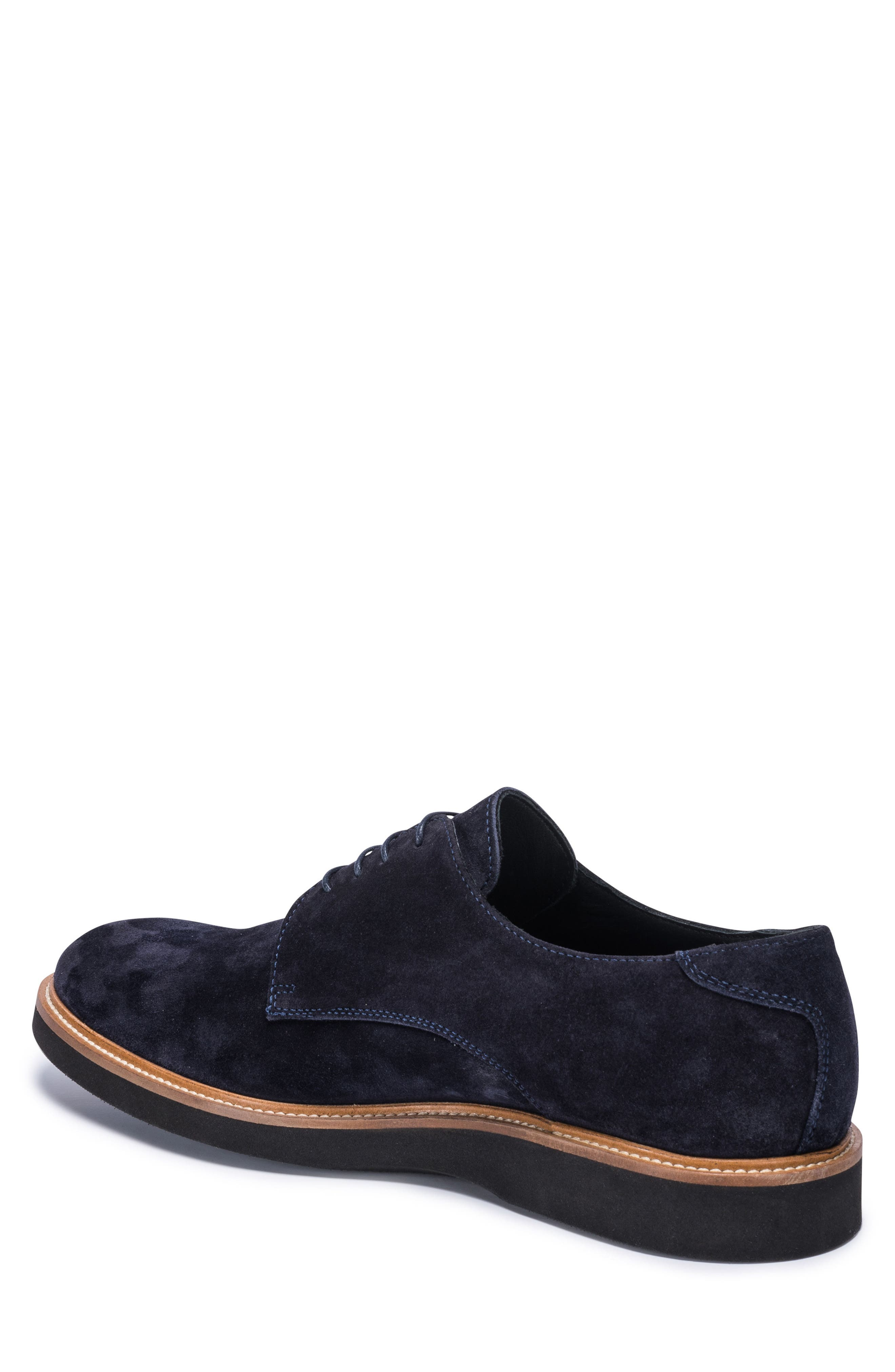 Siena Plain Toe Derby,                             Alternate thumbnail 2, color,                             Blue Suede