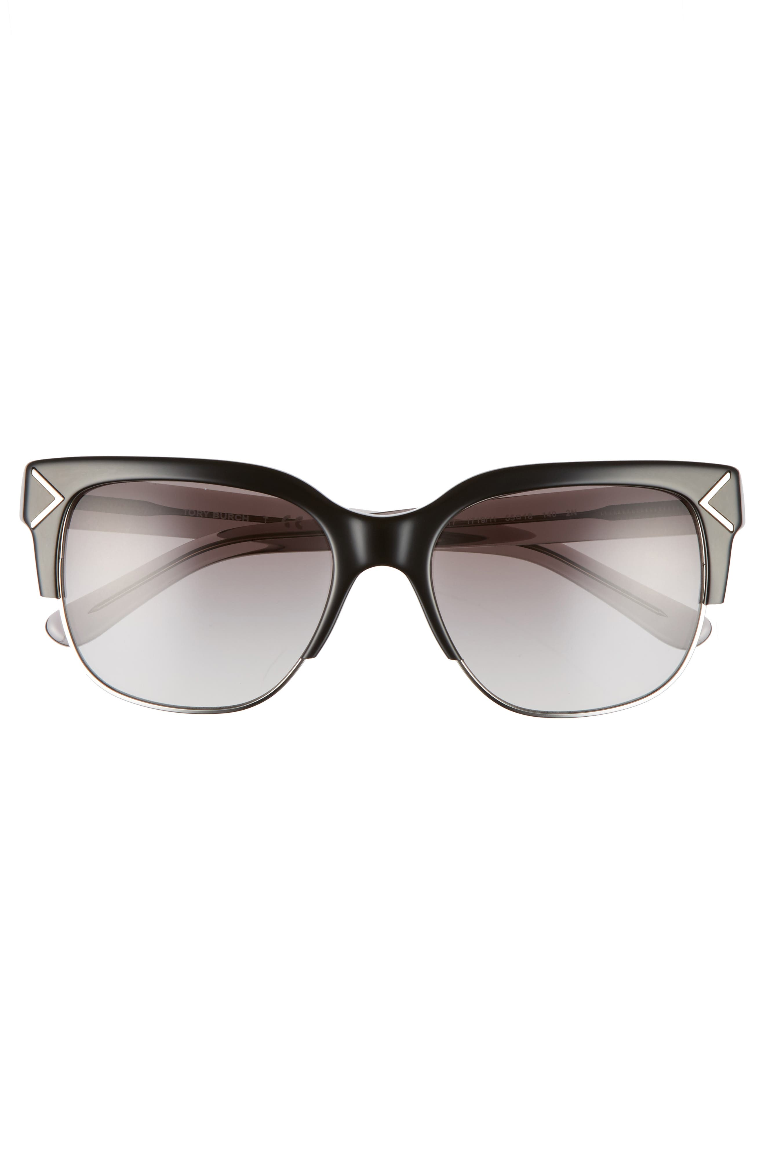 Alternate Image 3  - Tory Burch 55mm Gradient Square Sunglasses