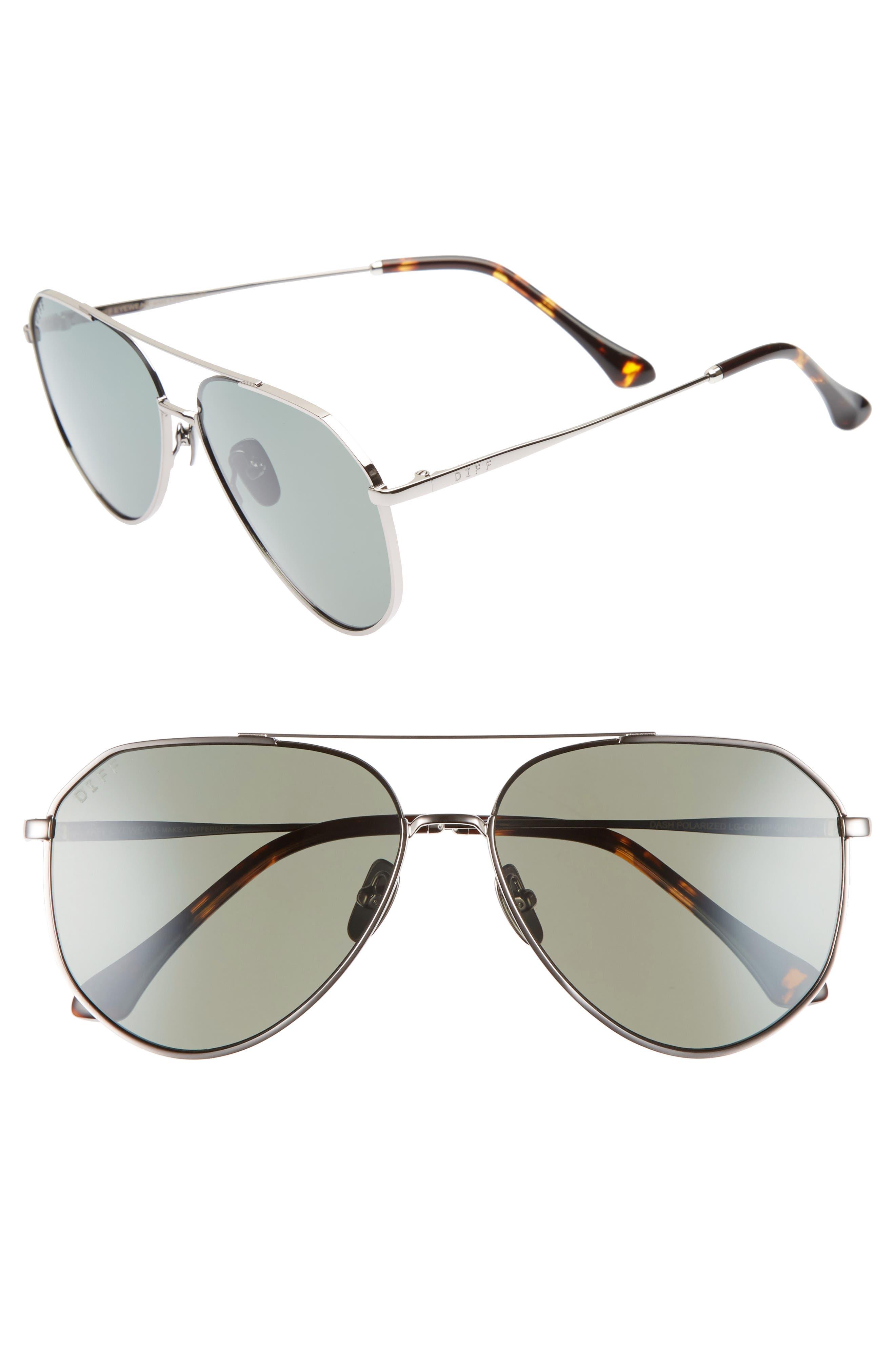DIFF Dash 58mm Aviator Sunglasses
