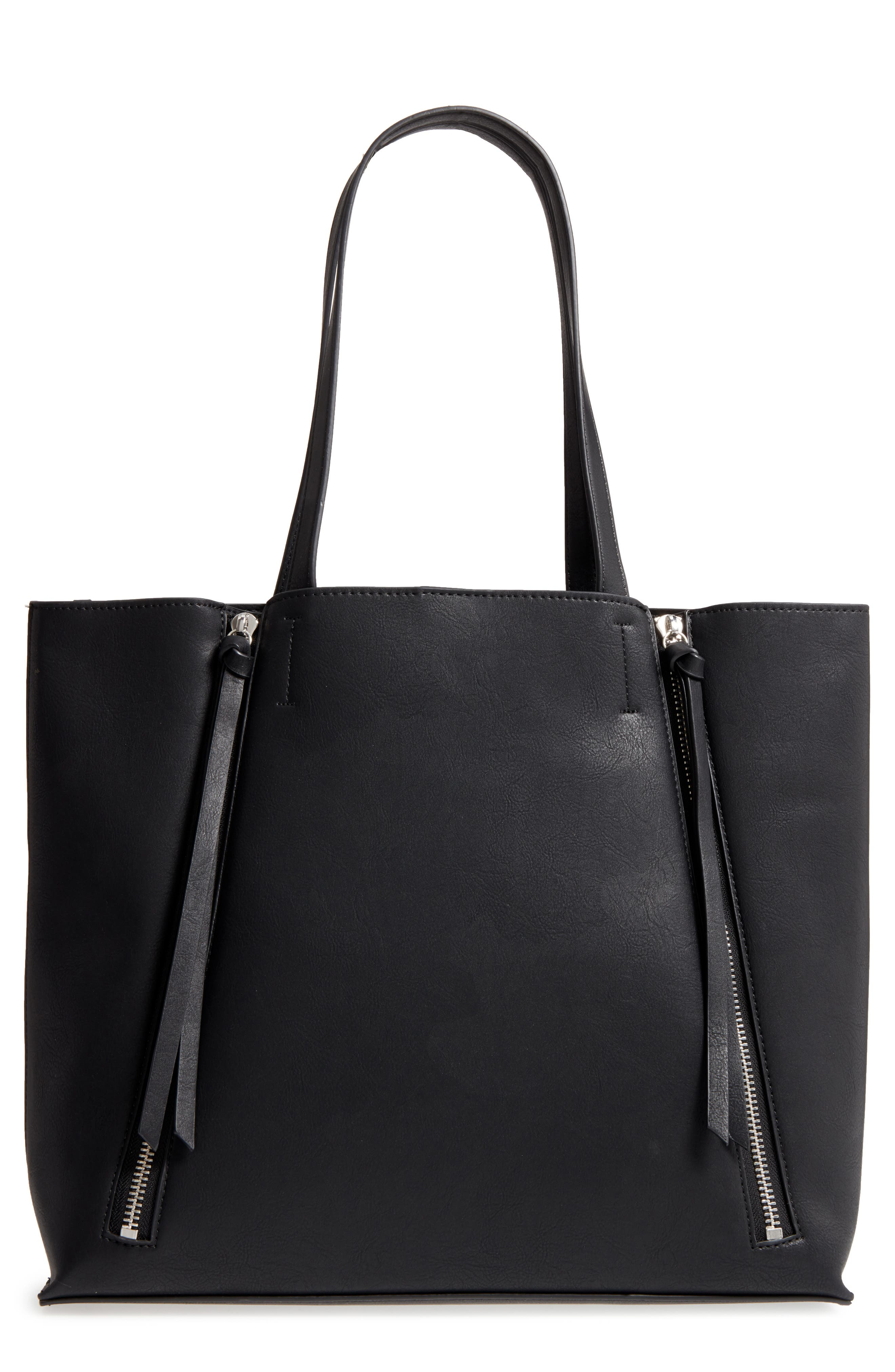 Chelsea28 Leigh Faux Leather Tote & Zip Pouch