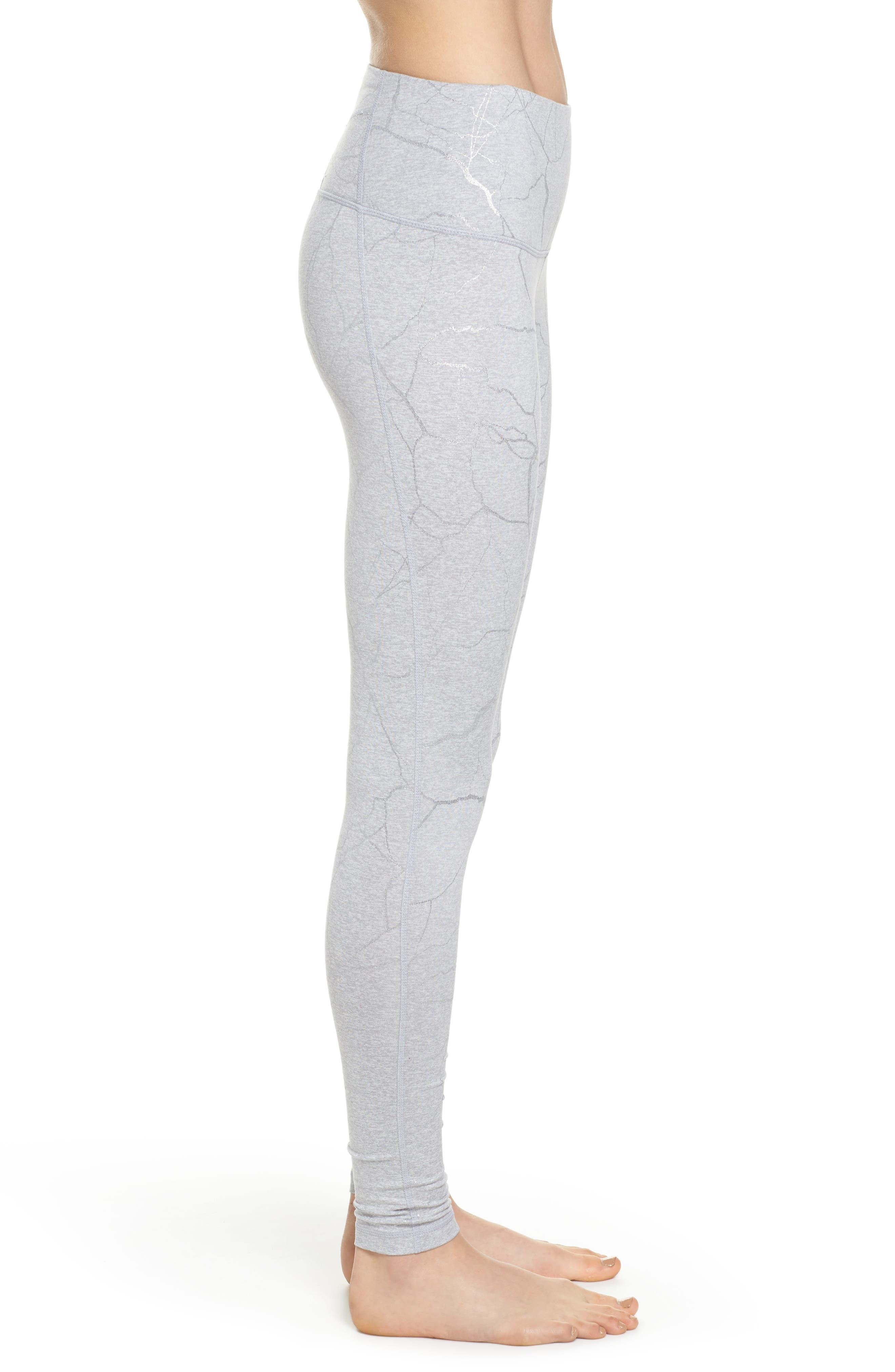 Print Mélange High Waist Leggings,                             Alternate thumbnail 3, color,                             Grey Wolf Lava Laminate
