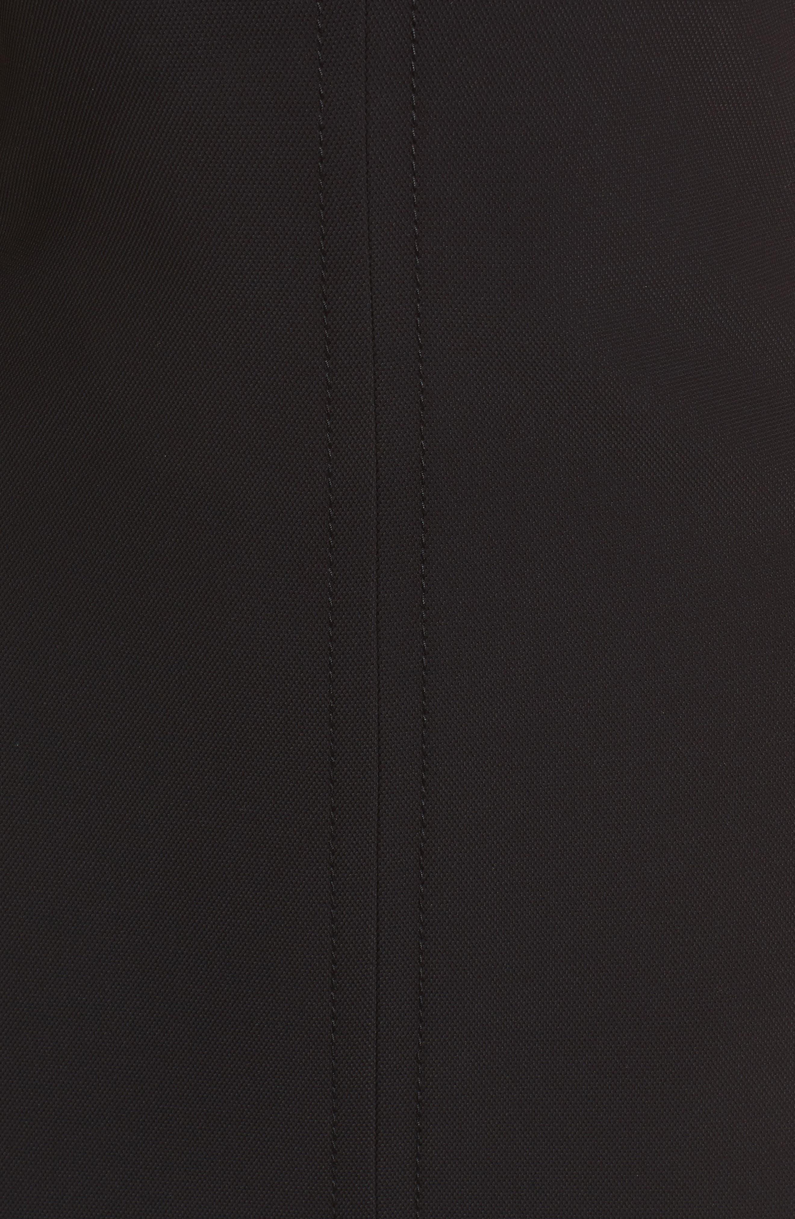 Dilamena Crepe Sheath Dress,                             Alternate thumbnail 5, color,                             Black