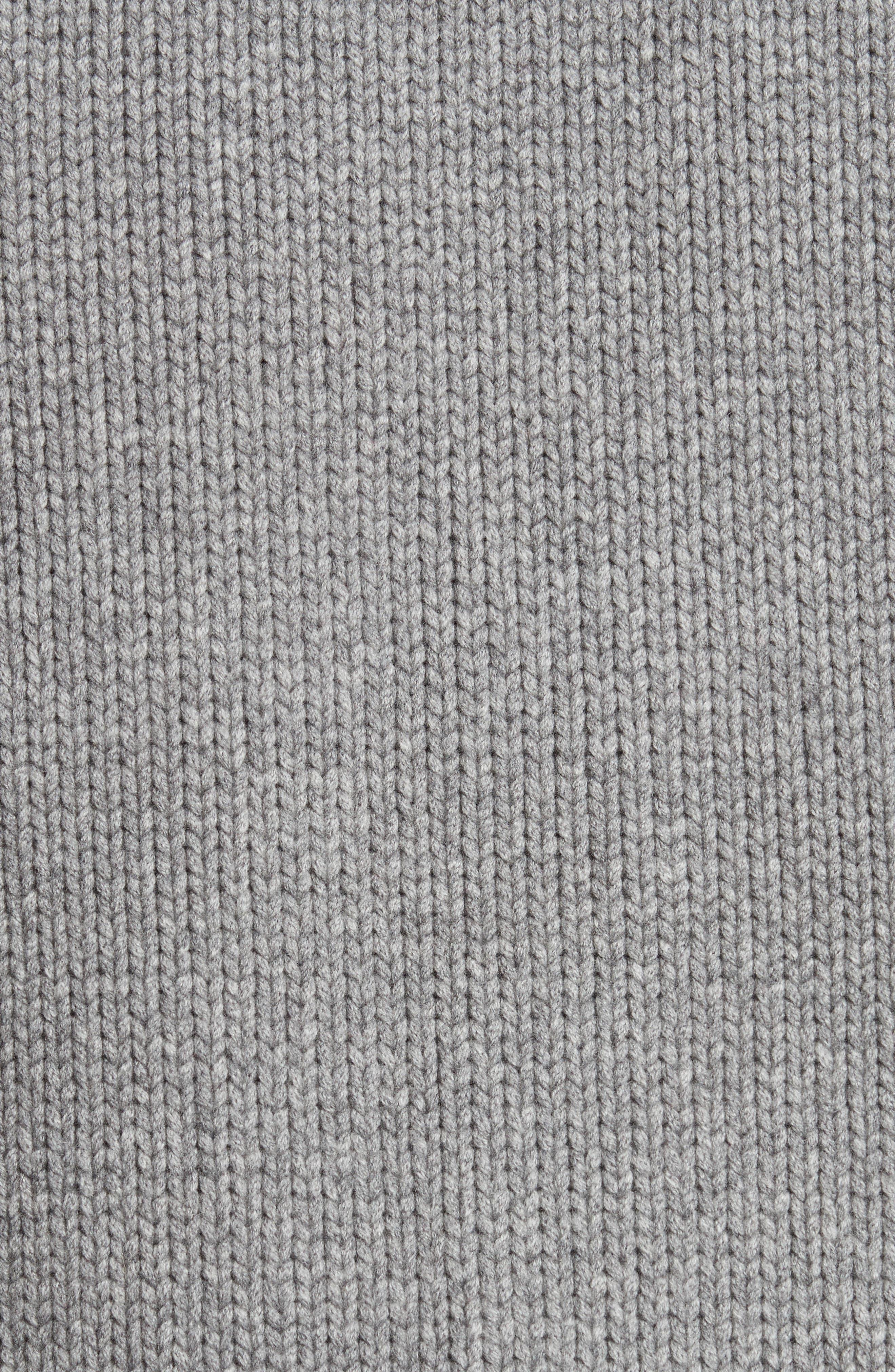 Caldwell Wool & Cashmere Cardigan,                             Alternate thumbnail 5, color,                             Mid Grey Melange