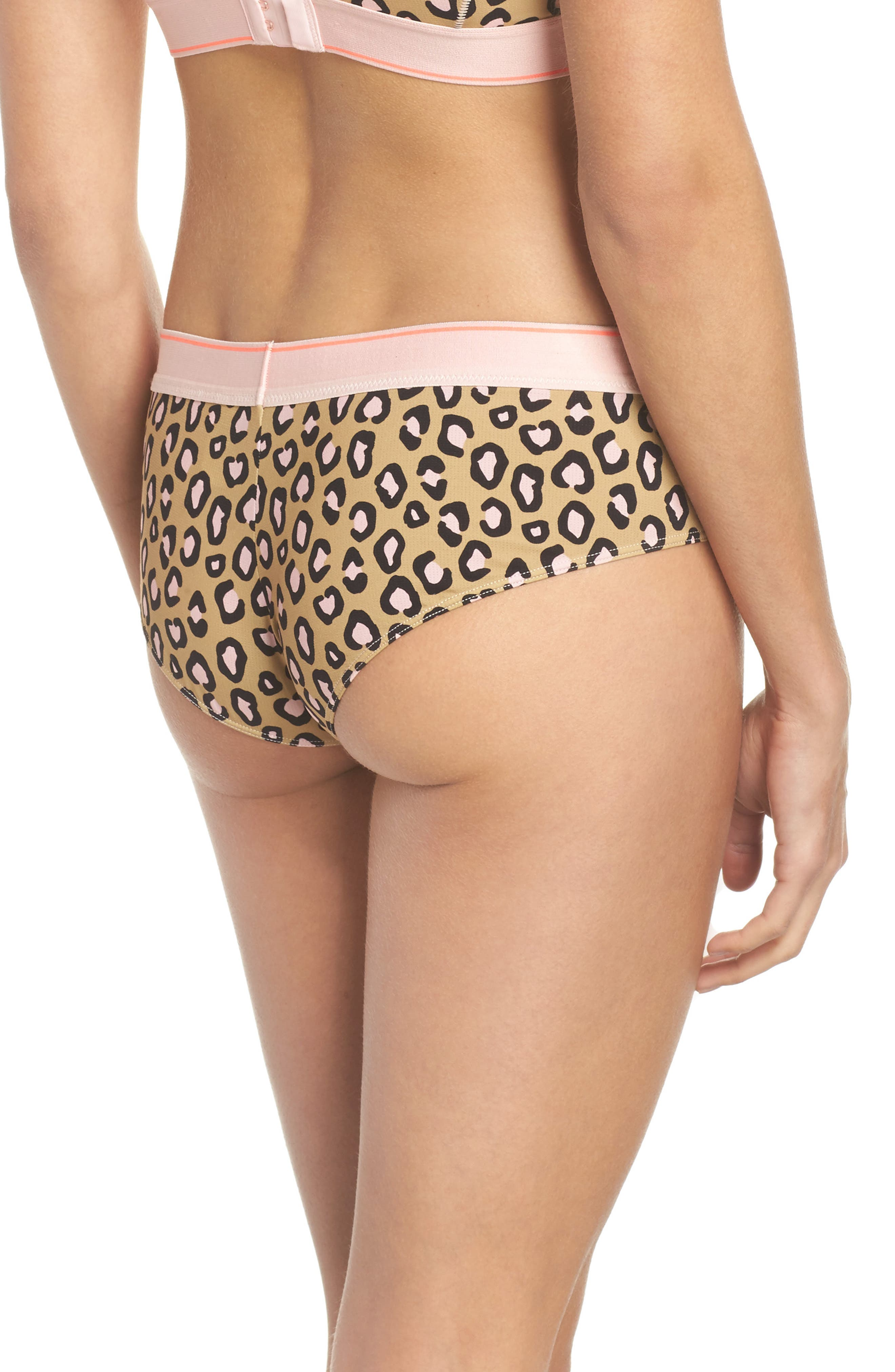Feline Floral Cheeky Hipster Briefs,                             Alternate thumbnail 2, color,                             Pink Multi