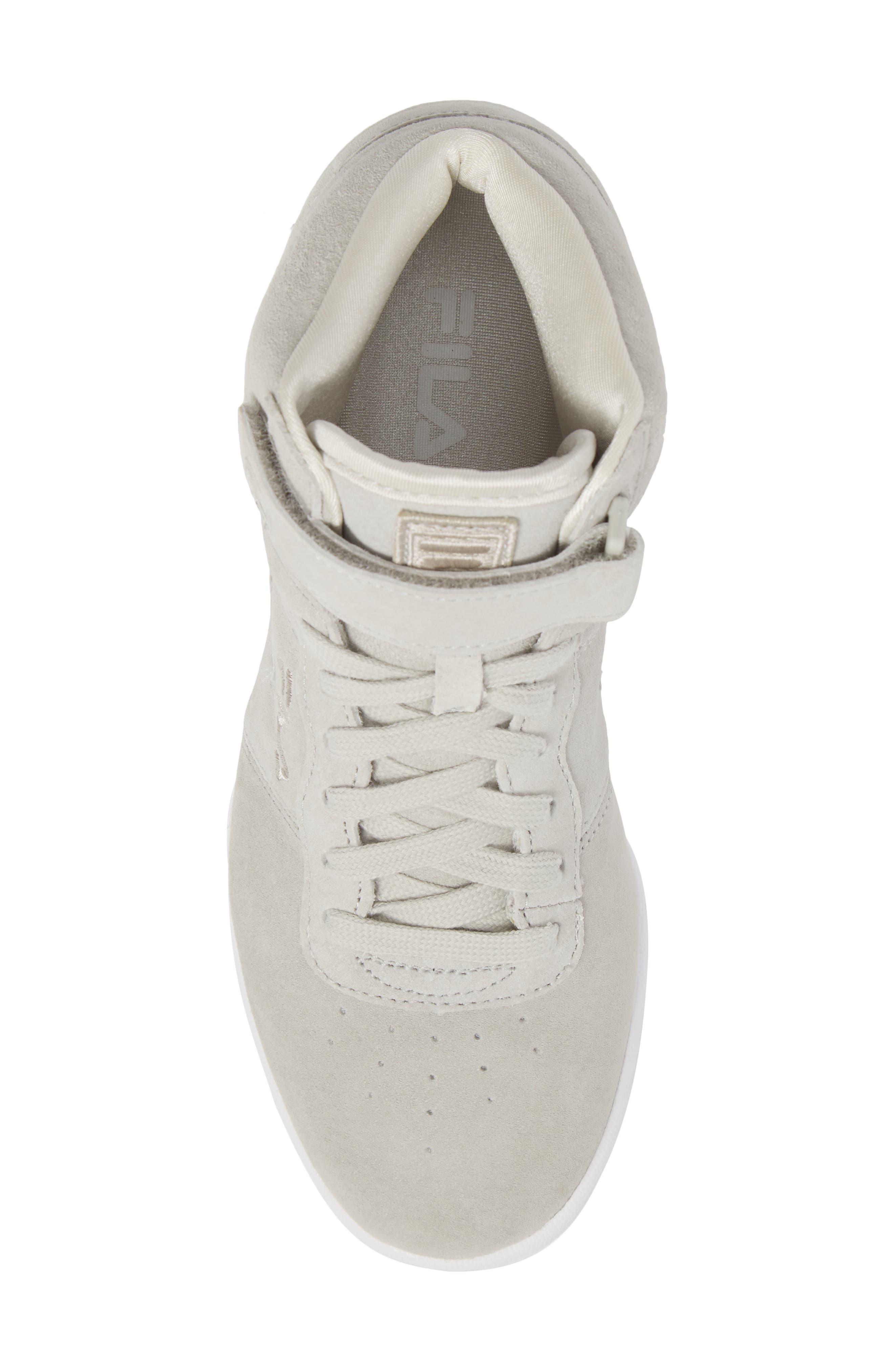 F-13 Premium Mid Top Sneaker,                             Alternate thumbnail 5, color,                             White