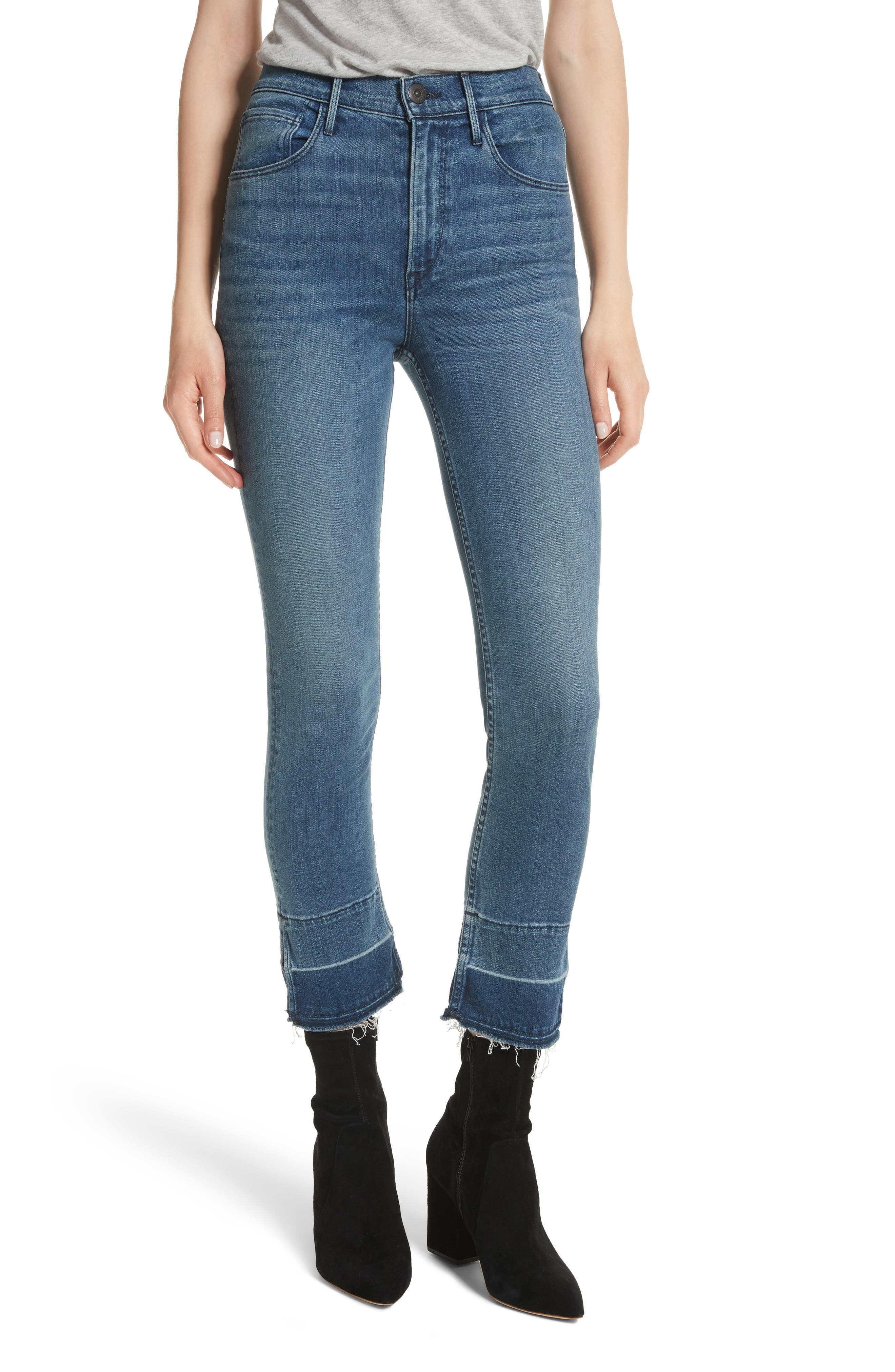 W4 Abigail Released Split Hem Ankle Skinny Jeans,                             Main thumbnail 1, color,                             Ady