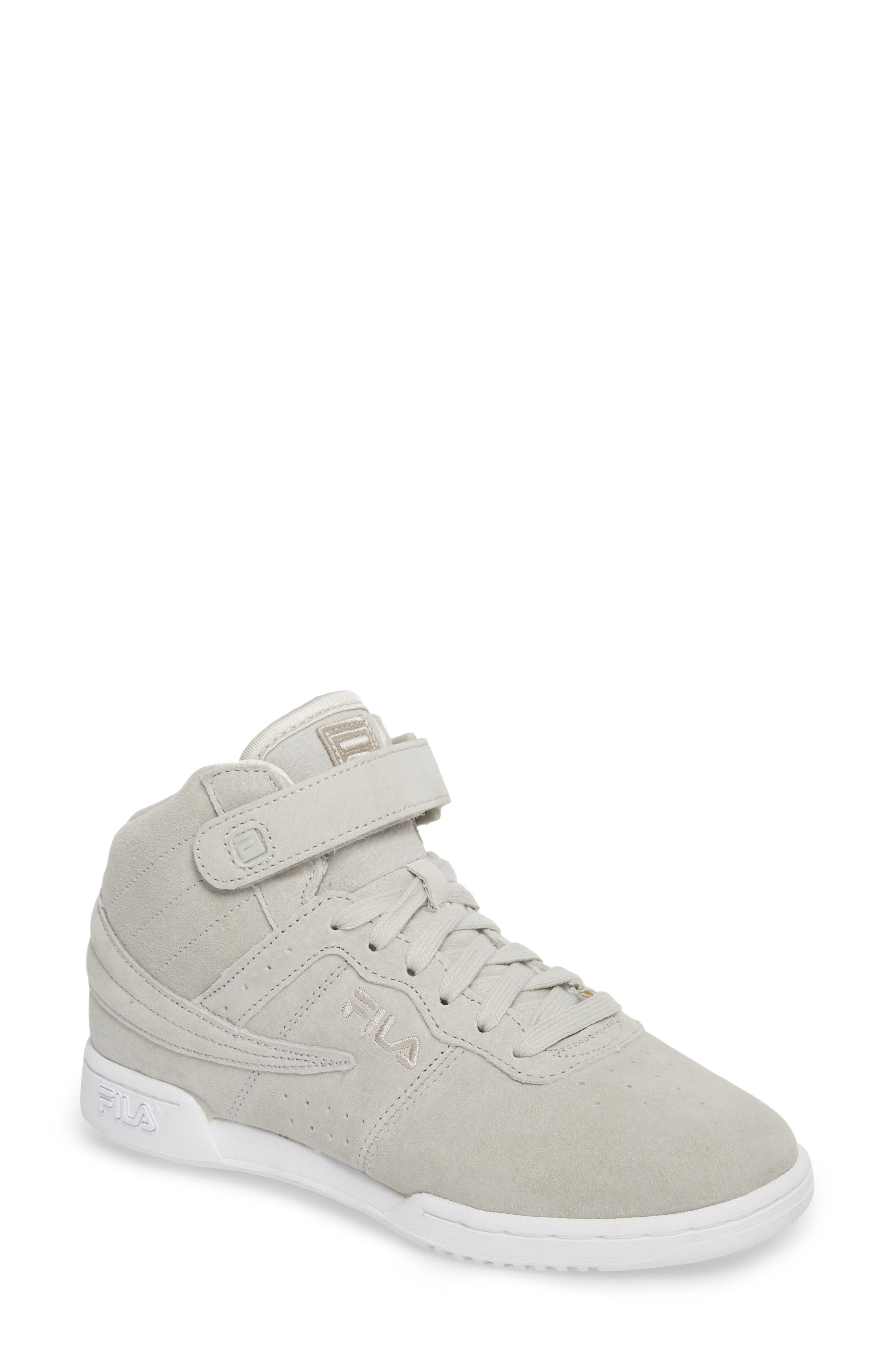 F-13 Premium Mid Top Sneaker,                             Main thumbnail 1, color,                             White